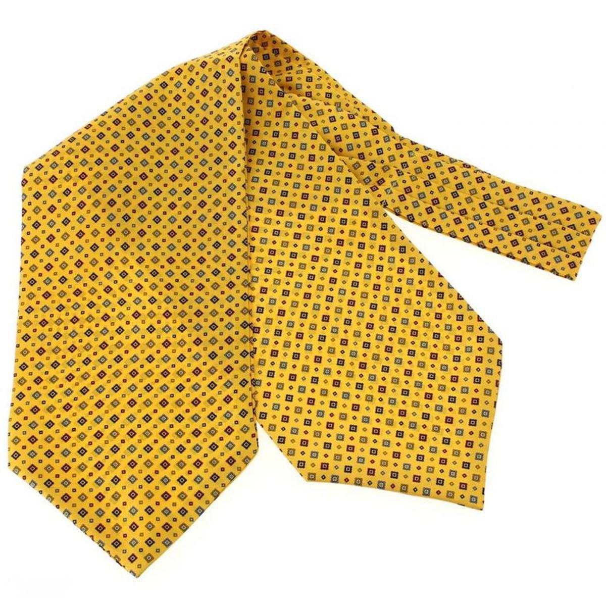 Pierre Hugues, Foulard Ascot soie, Sofia jaune bouton d'or