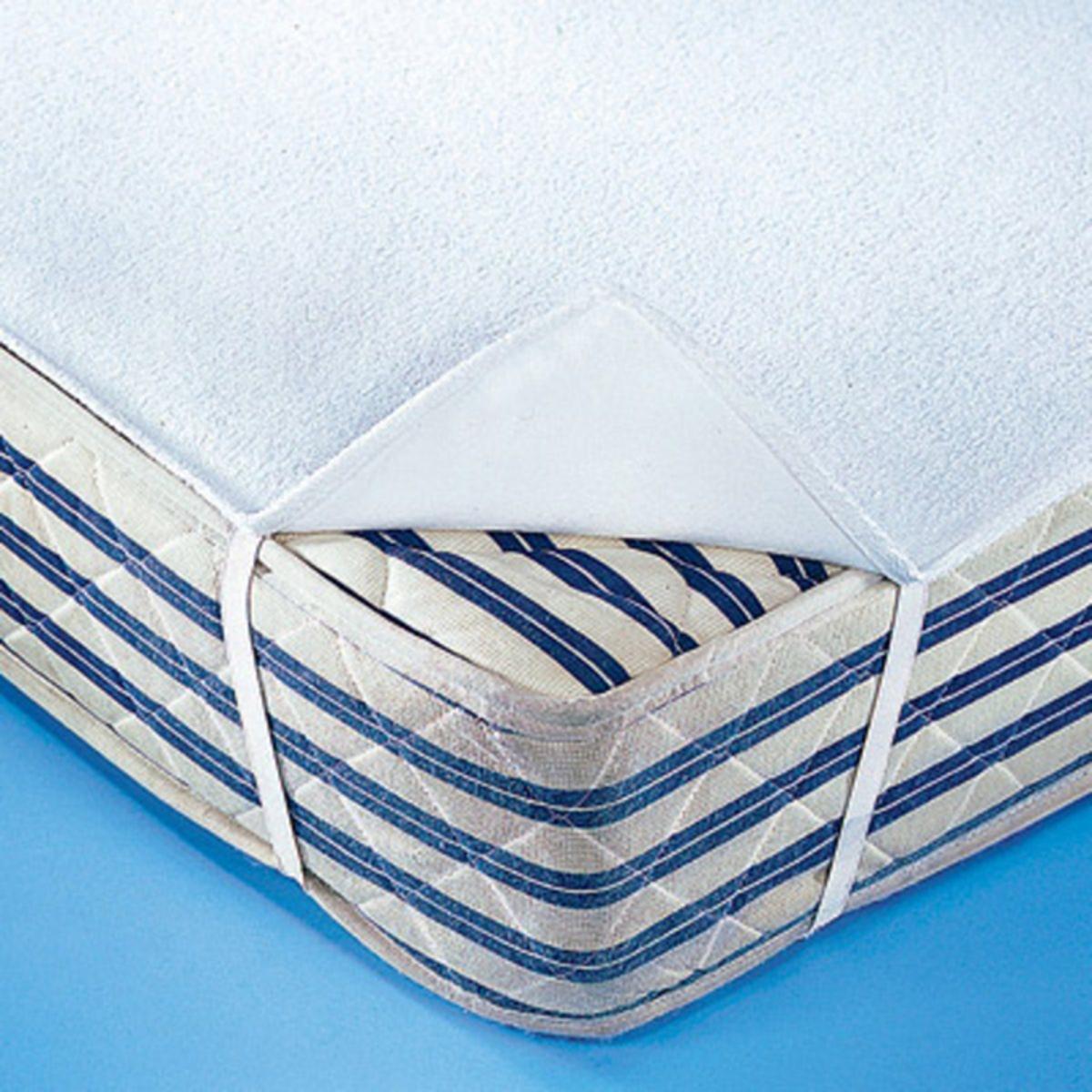 Чехол защитный для матраса двухсторонний из махрового мольтона непромокаемый и дышащий в форме простыни чехол защитный для подушки из стретч мольтона