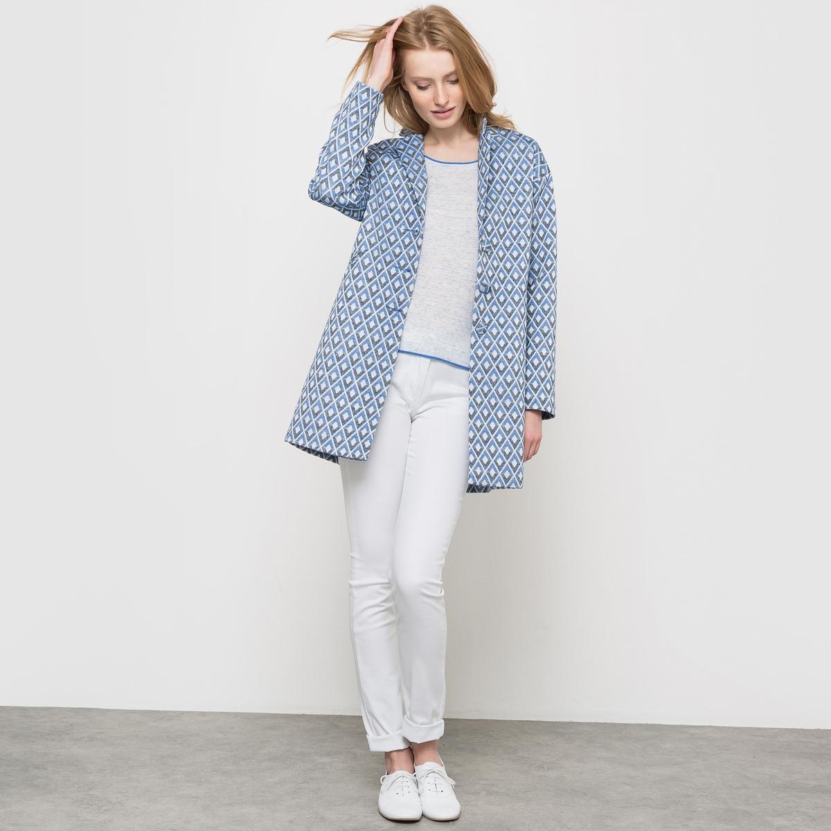 Пальто прямое из жаккардовой ткани пальто la biali пальто