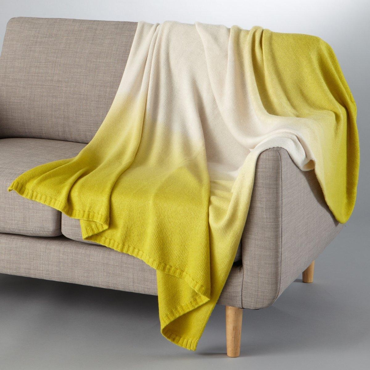 Плед с эффектом деградеПлед Армис. Красивый эффект деграде и мягкий материал из 100% акрила, 600 г/м?. Края связаны в рубчик по ширине. Размер: 130 х 170 см. Стирка при 30°.<br><br>Цвет: зелено-желтый/серо-бежевый,темно-серый/серый