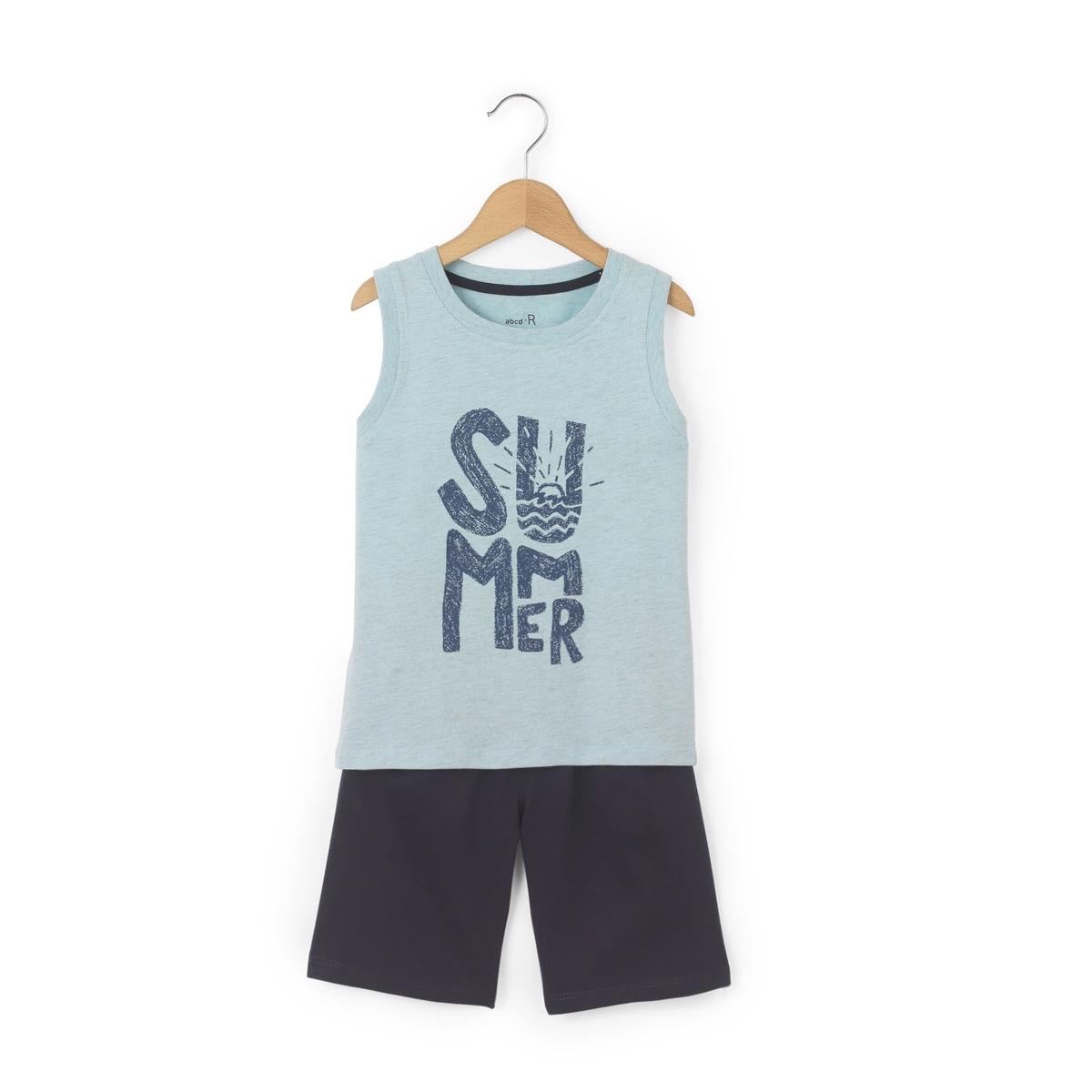 Пляжный комплект из футболки и шортов