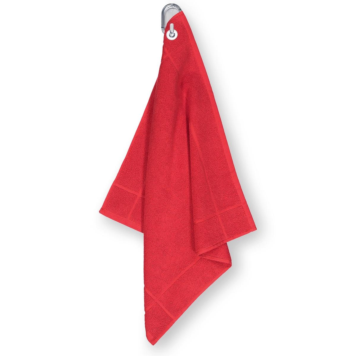 Полотенце La Redoute Для рук из махровой ткани 100 хлопок с люверсом единый размер красный комплект из банных принадлежностей la redoute из махровой ткани гм scenario единый размер белый