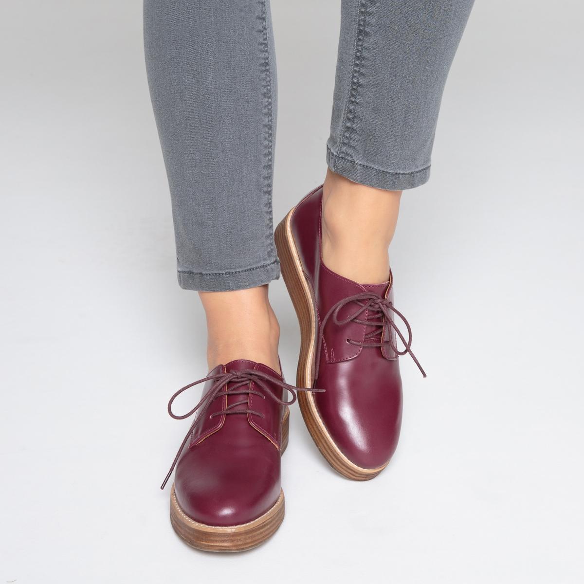 Ботинки-дерби на танкетке ботинки дерби под кожу питона