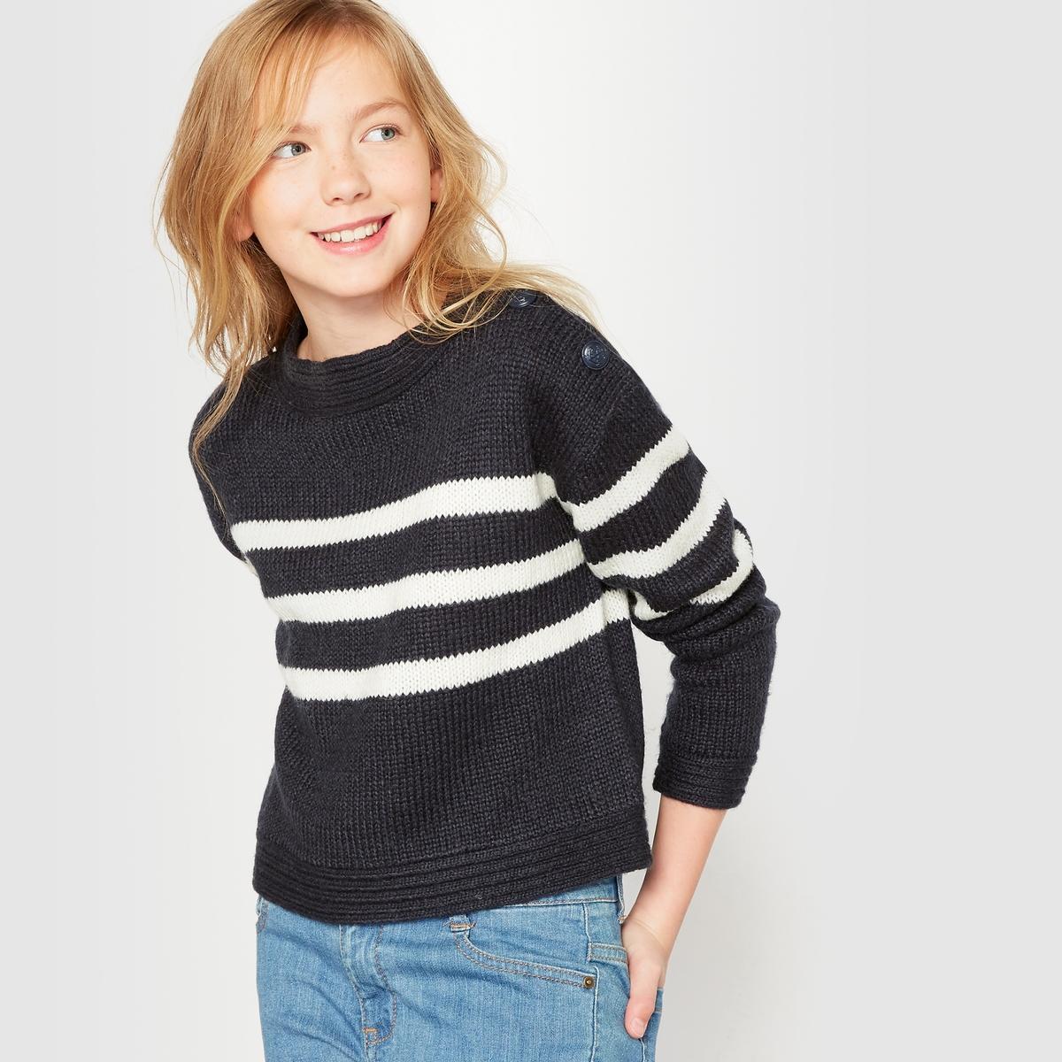 Пуловер в полоску на 10-16 лет от La Redoute Collections