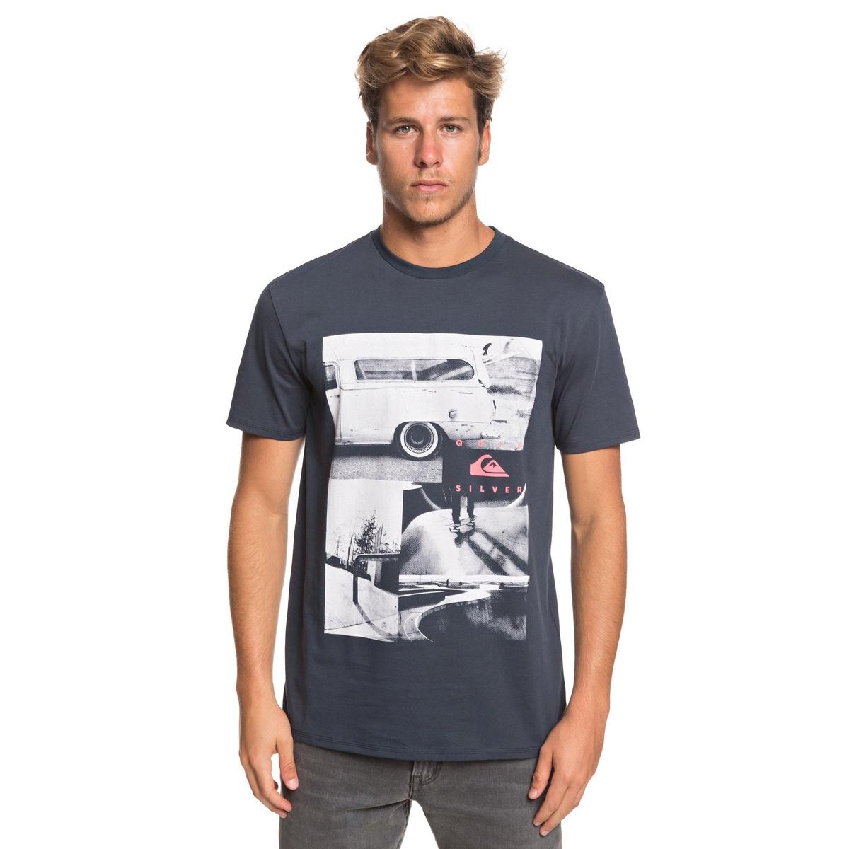 T-Shirt| runder Ausschnitt| kurze Ärmel | Bekleidung | Blau | Baumwolle | QUIKSILVER