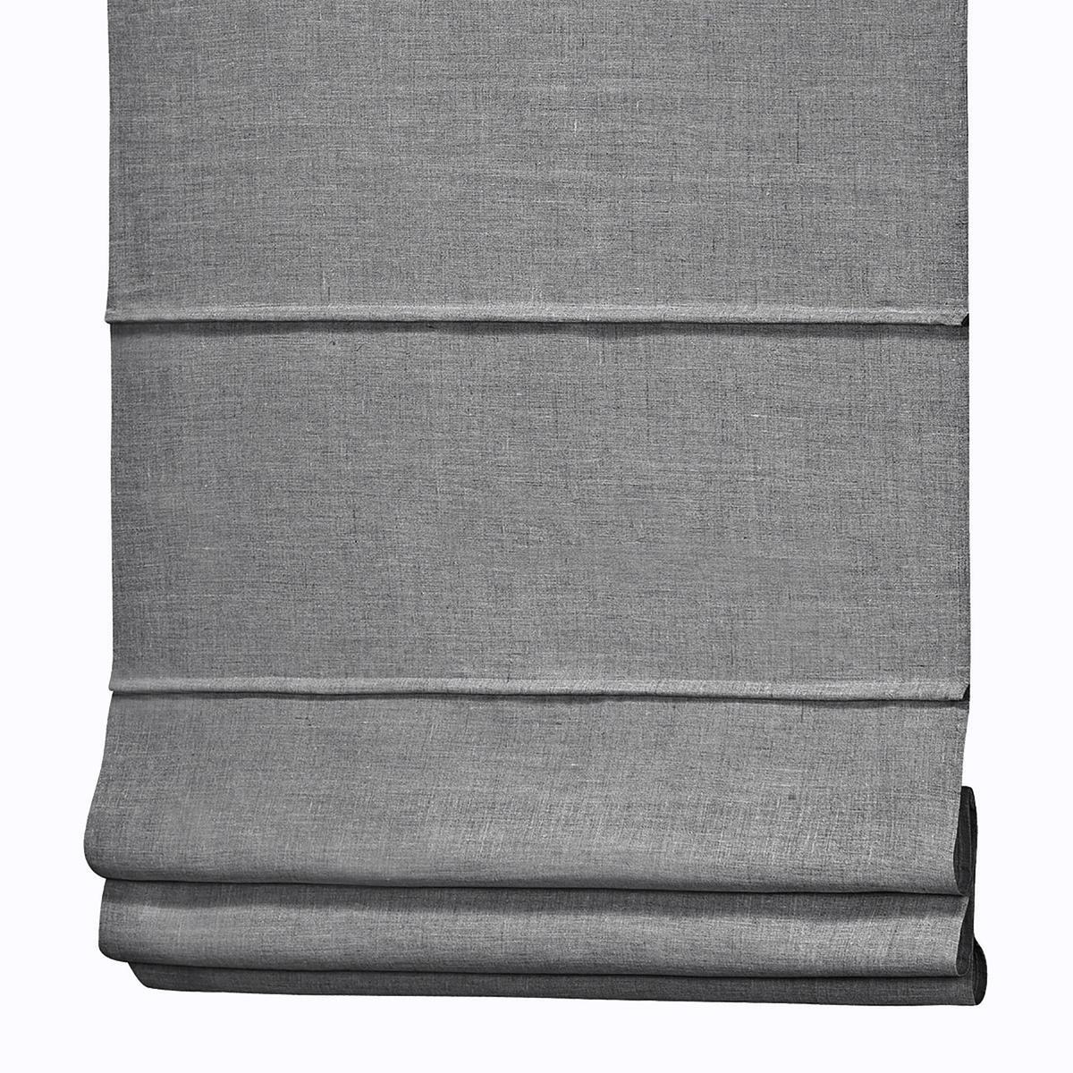 Штора LaRedoute Римская из 100 льна Noli 60 x 130 см серый