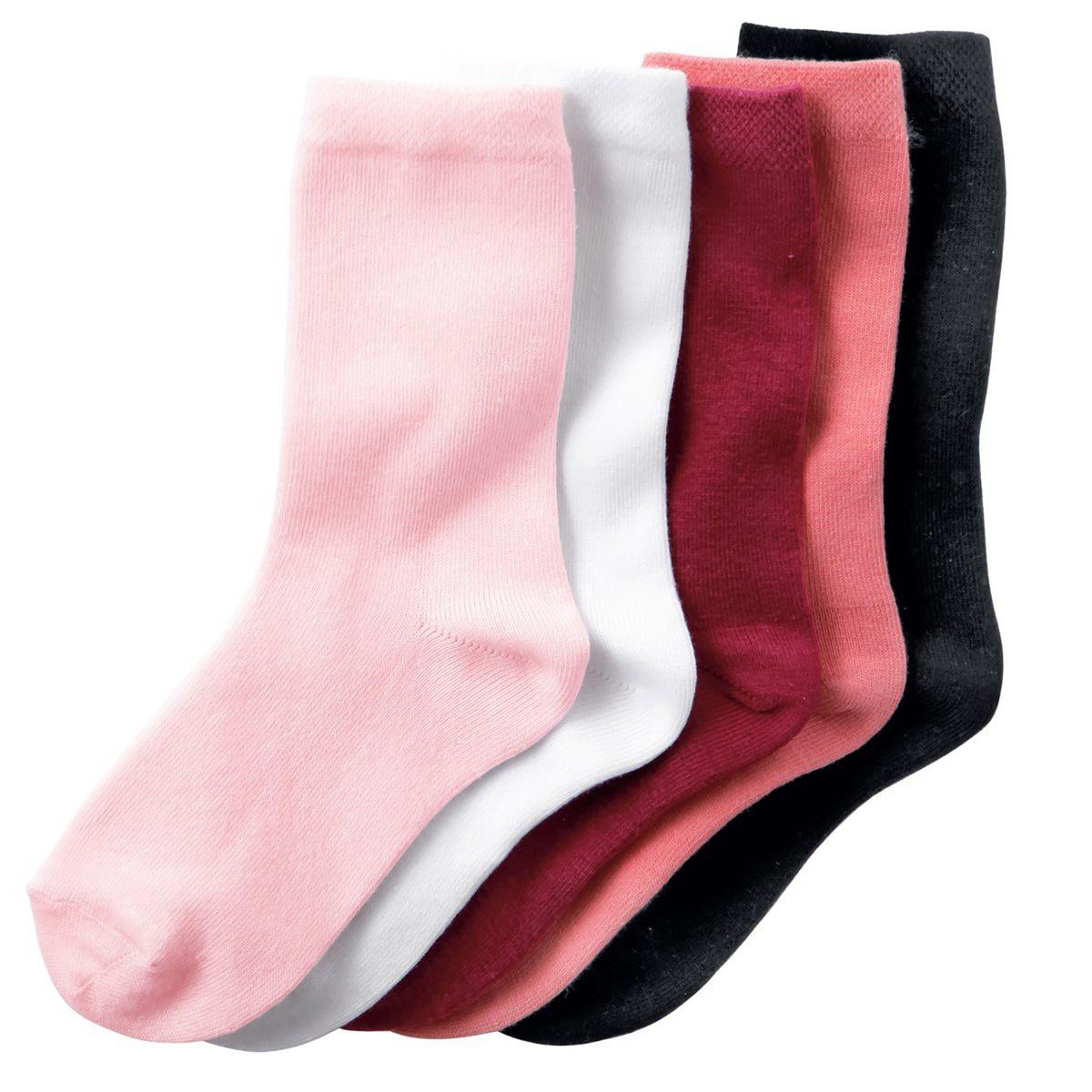 5 пар низких носковОписание:Низкие носки однотонные. В комплекте 5 пар носков.Состав и описание : Материал       78% хлопка, 20% полиамида, 2% эластанаМарка       R ?ditionХарактеристикиУход :Машинная стирка при 30°C с вещами подобных цветов.Стирать, предварительно вывернув наизнанку.Машинная сушка запрещена.Не гладить.<br><br>Цвет: белый + розовый + черный<br>Размер: 31/34.27/30.23/26