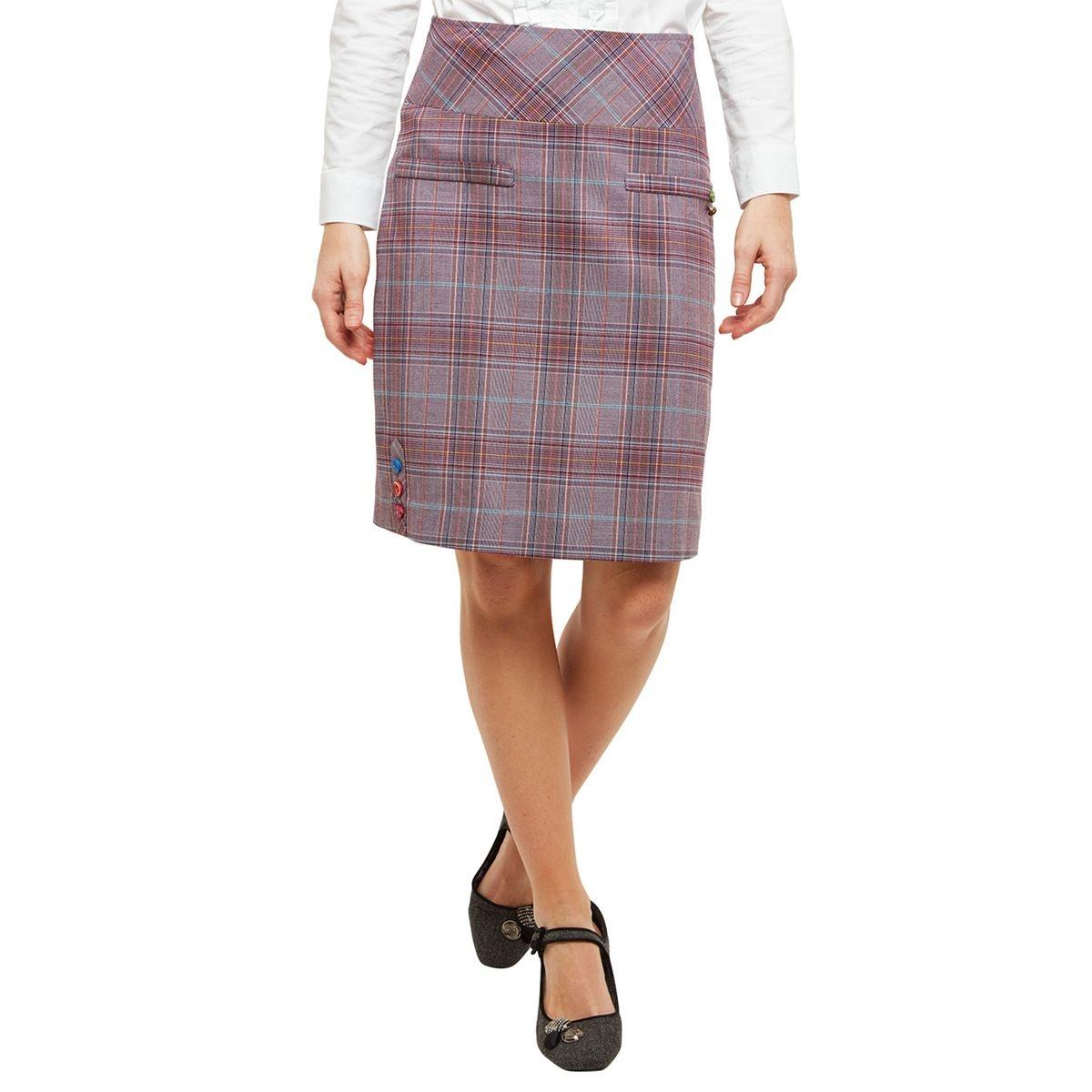 Mini-jupe à carreaux mode