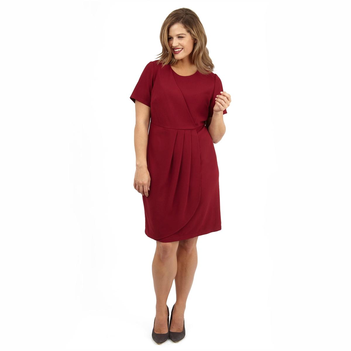 ПлатьеПлатье с короткими рукавами LOVEDROBE. 100% полиэстер.<br><br>Цвет: бордовый<br>Размер: 54/56 (FR) - 60/62 (RUS).50/52 (FR) - 56/58 (RUS)