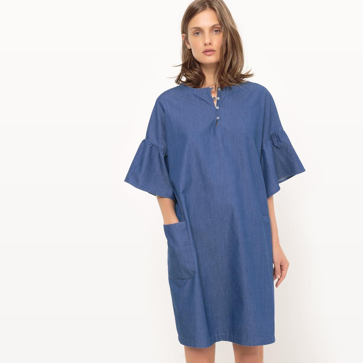 Платье из денима, длина до колен