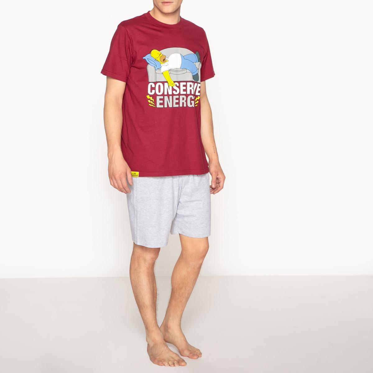 Simpsons Printed Cotton Short Pyjamas