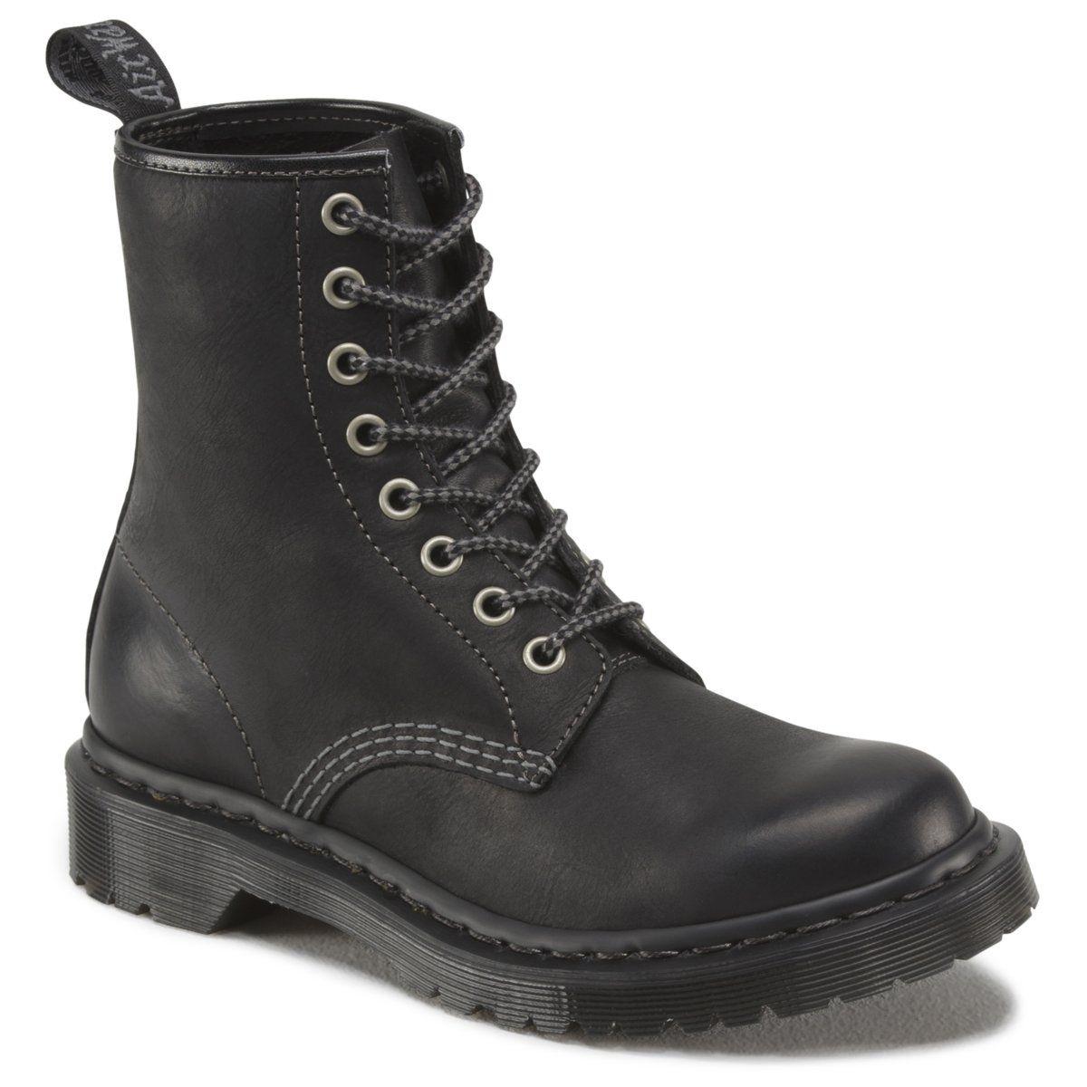 Boots en cuir, à lacets