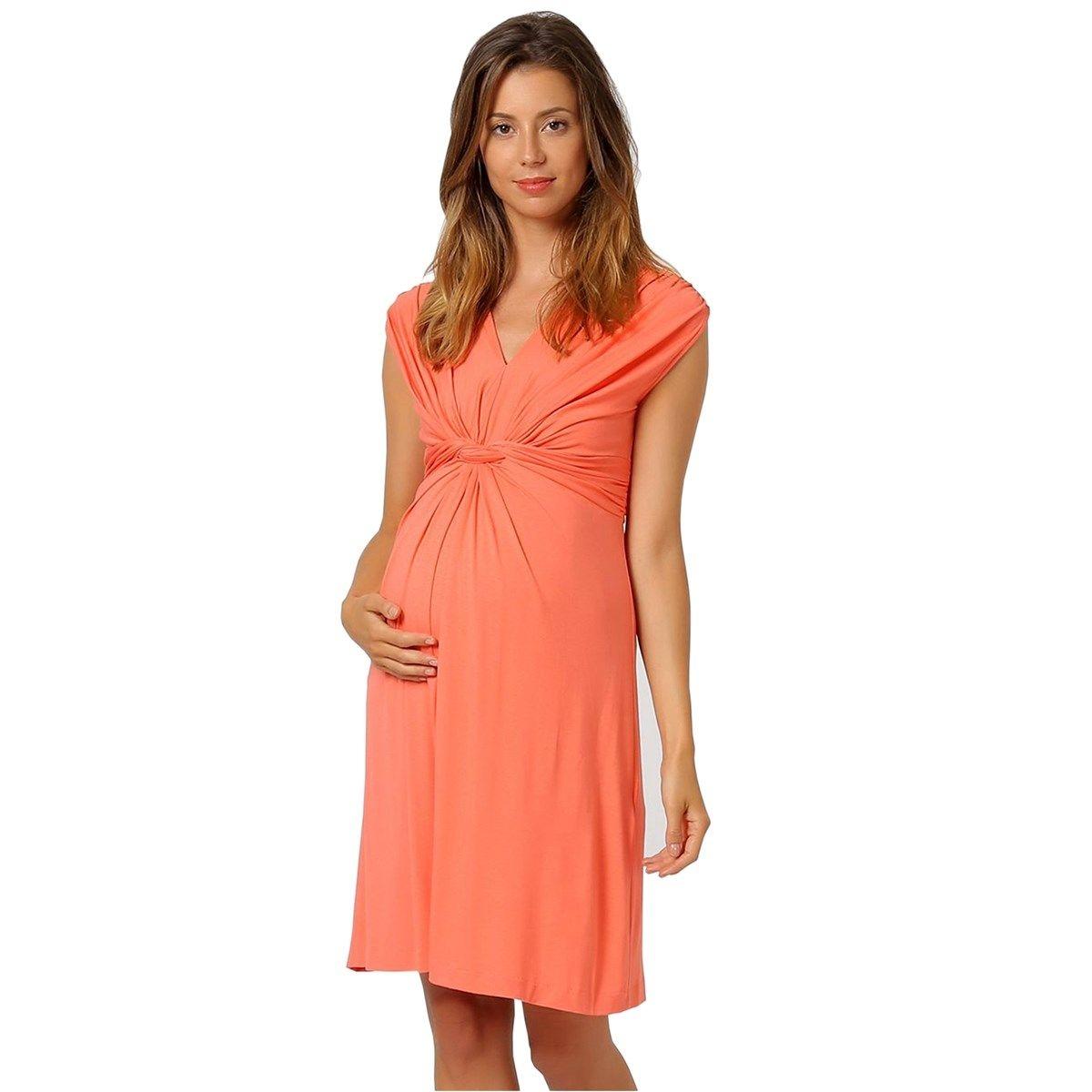 Papaver robe de grossesse noeud devant en jersey
