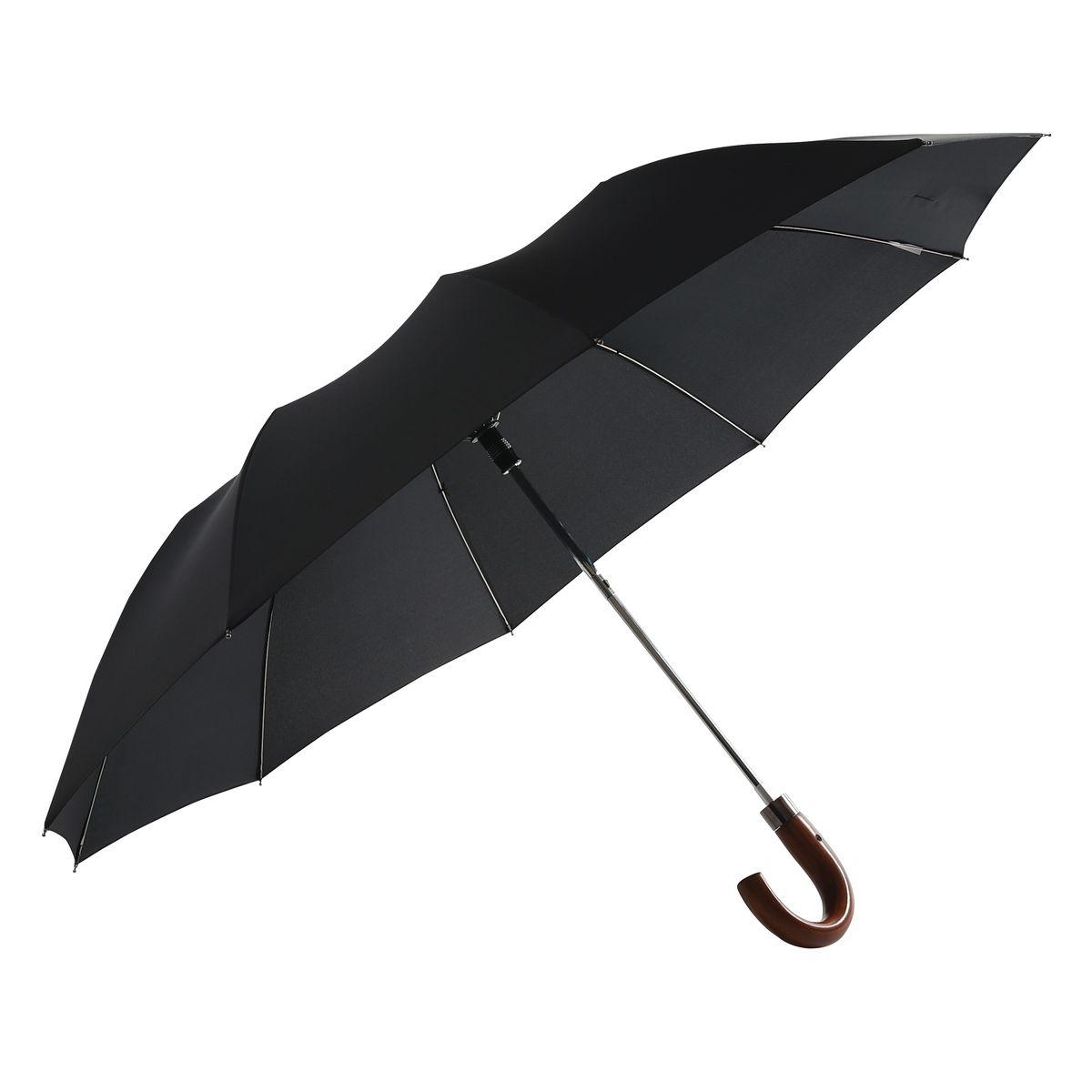 Parapluie NEYRAT Autun - Wind proof - PLIANT AUTOMATIQUE - POIGNEE BOIS