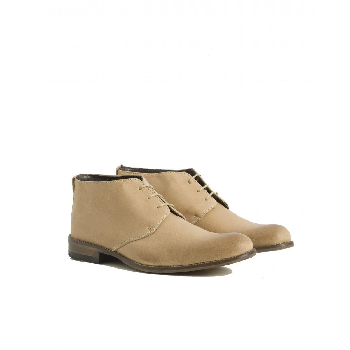 Boots à Lacet Cuir