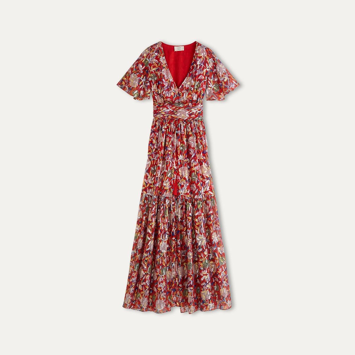 Платье JESSYСостав и описание    Материал : 80% шелка, 20% люрекса    Марка : BA&amp;SH<br><br>Цвет: красный