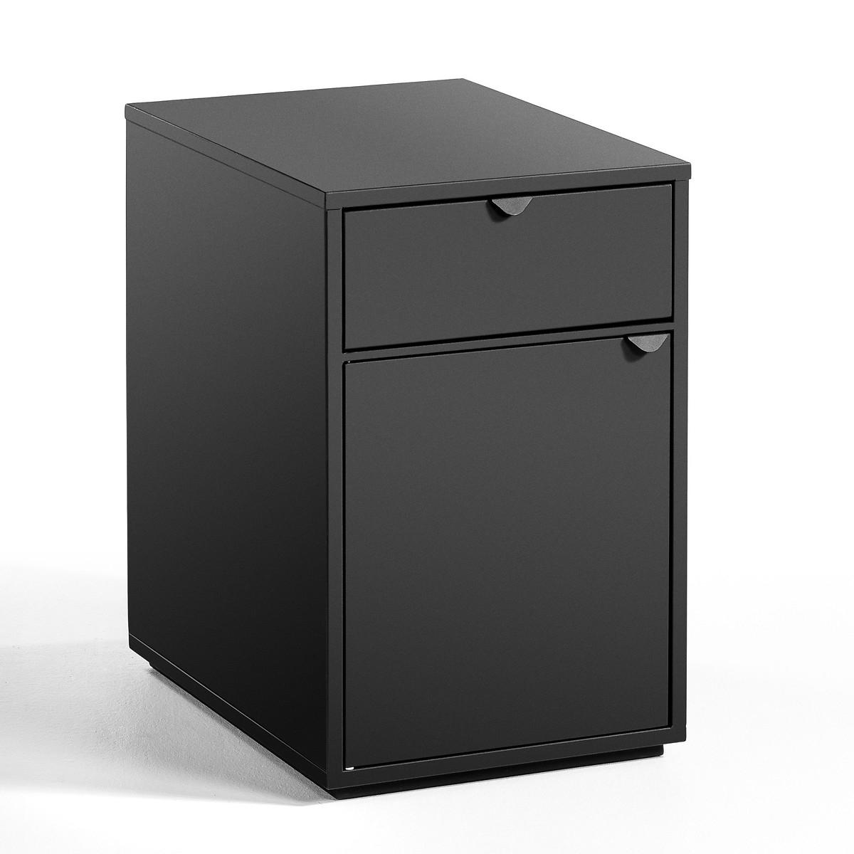 Тумба LaRedoute Для письменного стола с 1 ящиком и дверцей Angus единый размер черный
