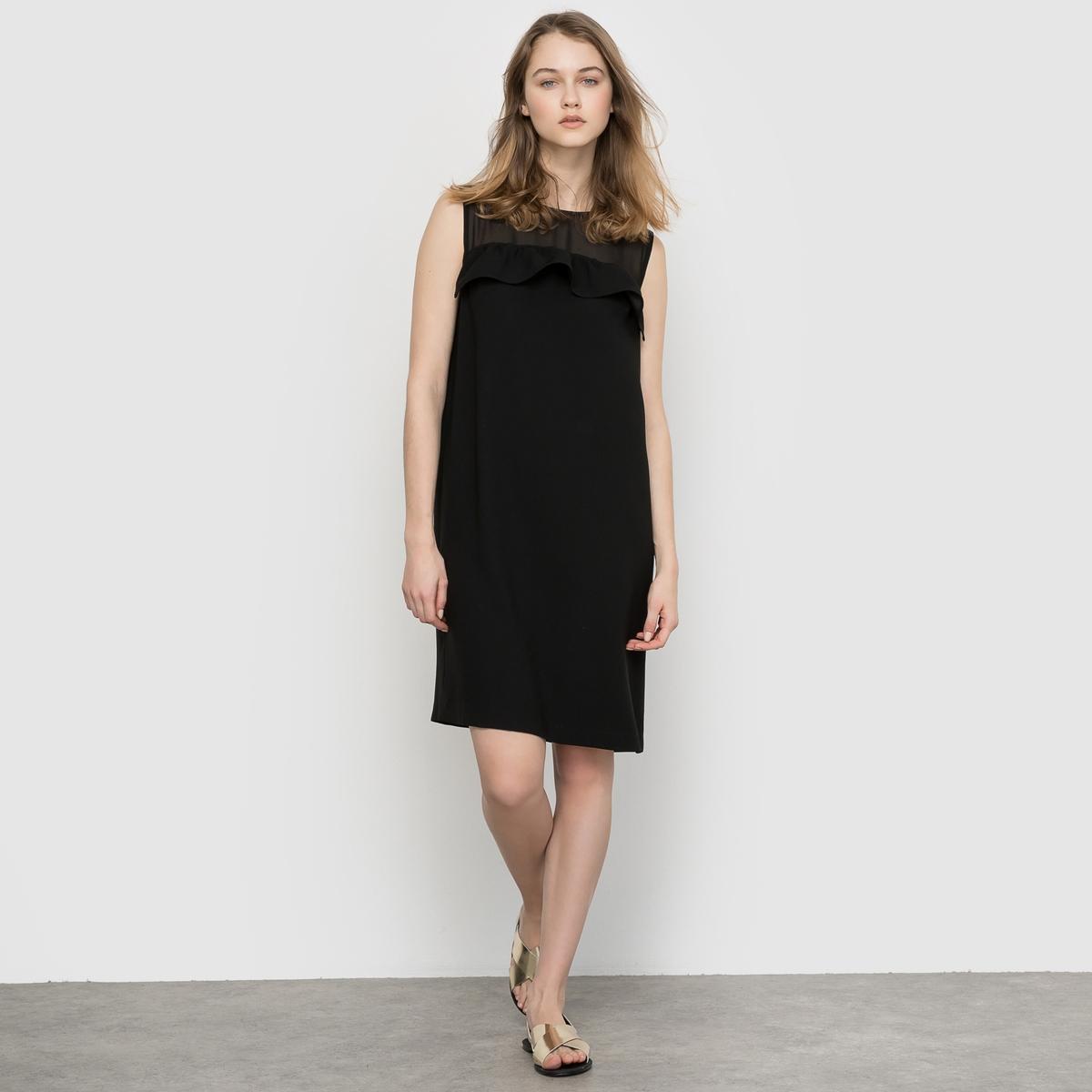 Платье с верхом из вуали