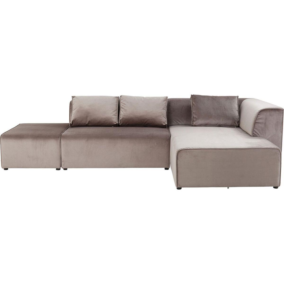 Canapé d'angle Infinity en velours droit Kare Design