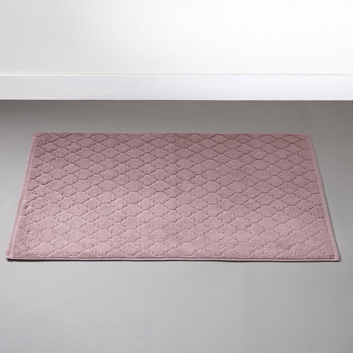 Коврик для ванной АЛЖЮСТРЕЛЬЖаккардовый коврик для ванной, 100% хлопка, 700 г/м?, выстриженные мотивы в восточном стиле. Бахрома по краю.Мягкий, межный и отлично впитывающий махровый материал, стирка при 60°.РАзмеры коврика для ванной : 50 x 70 см.<br><br>Цвет: розовое дерево<br>Размер: 50 x 70  см