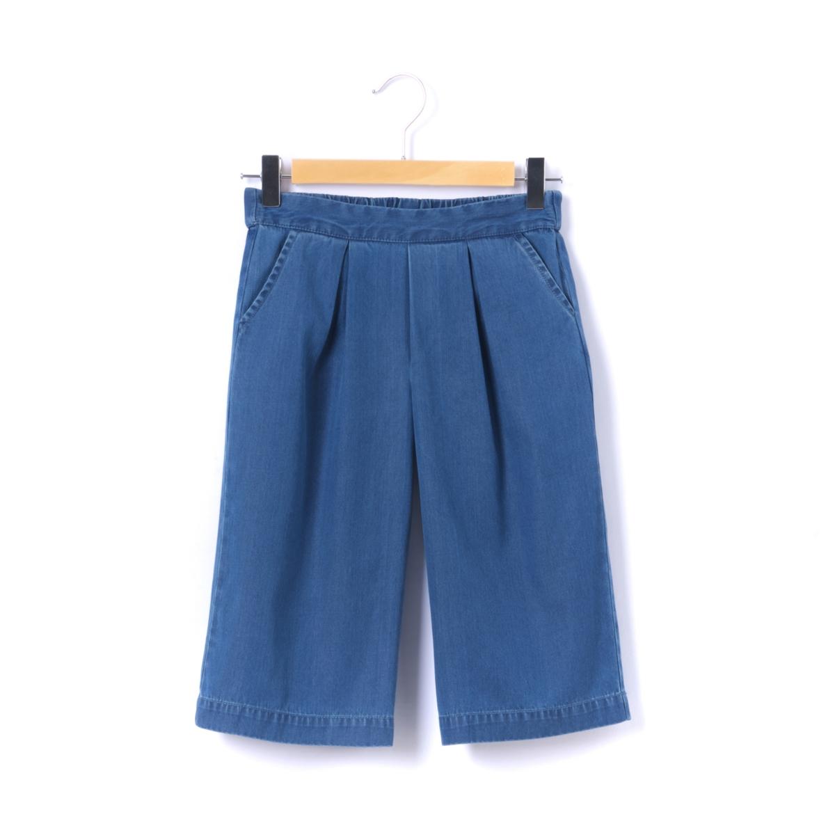 Юбка-шорты джинсовая,  3-12 лет