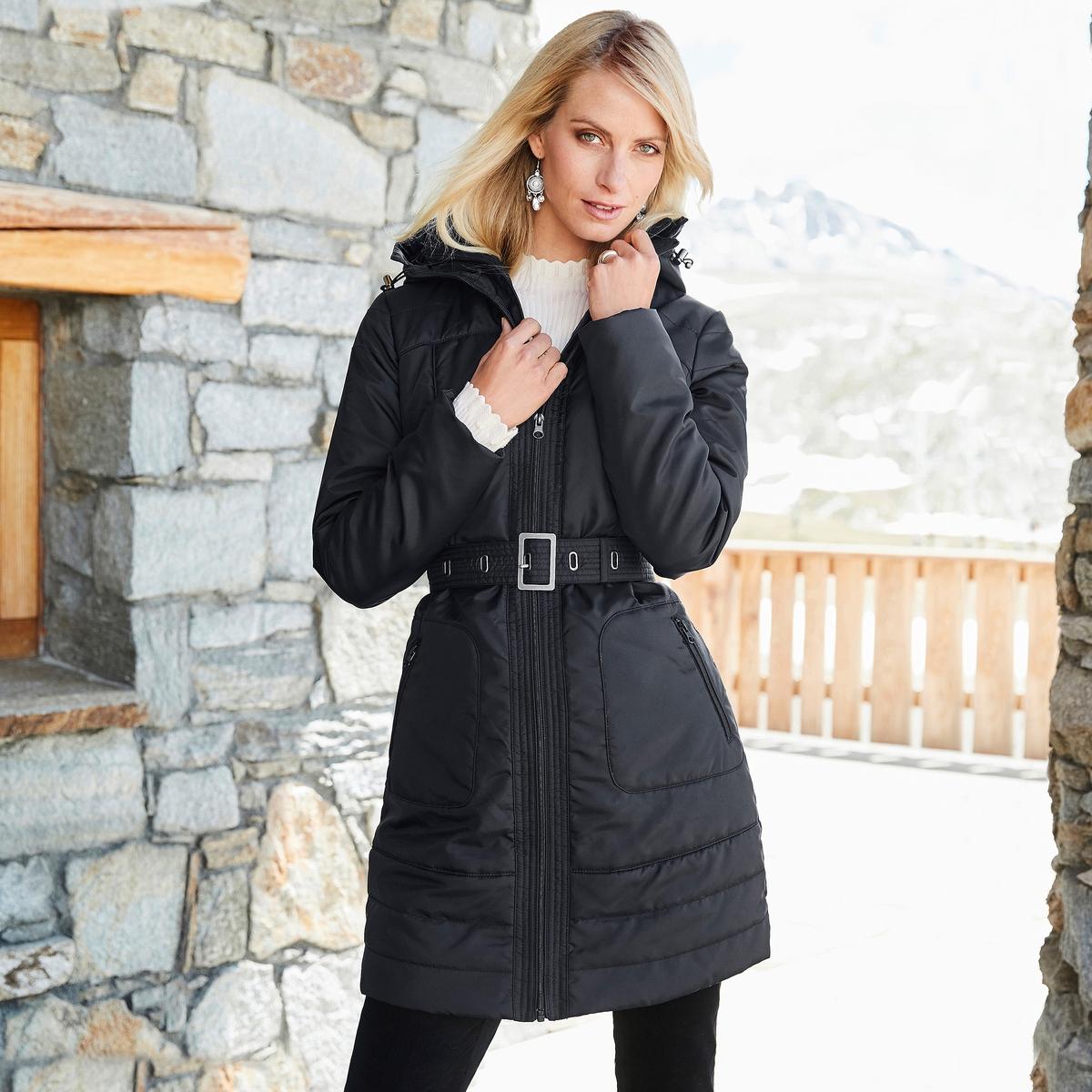Imagen principal de producto de Parka larga con capucha y cierre con cremallera - Anne weyburn