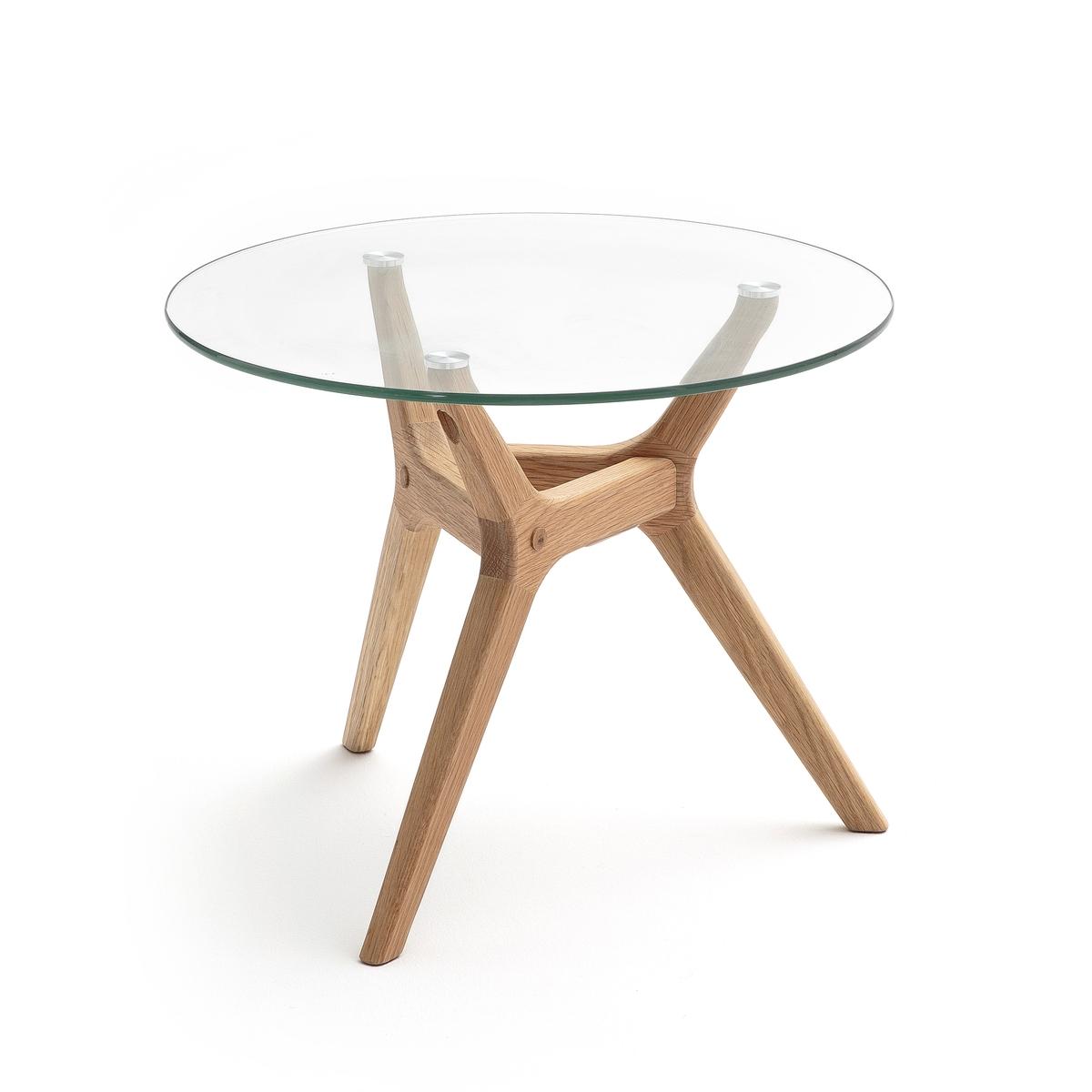 Стол журнальный из дуба Ø50 см, Maricielo