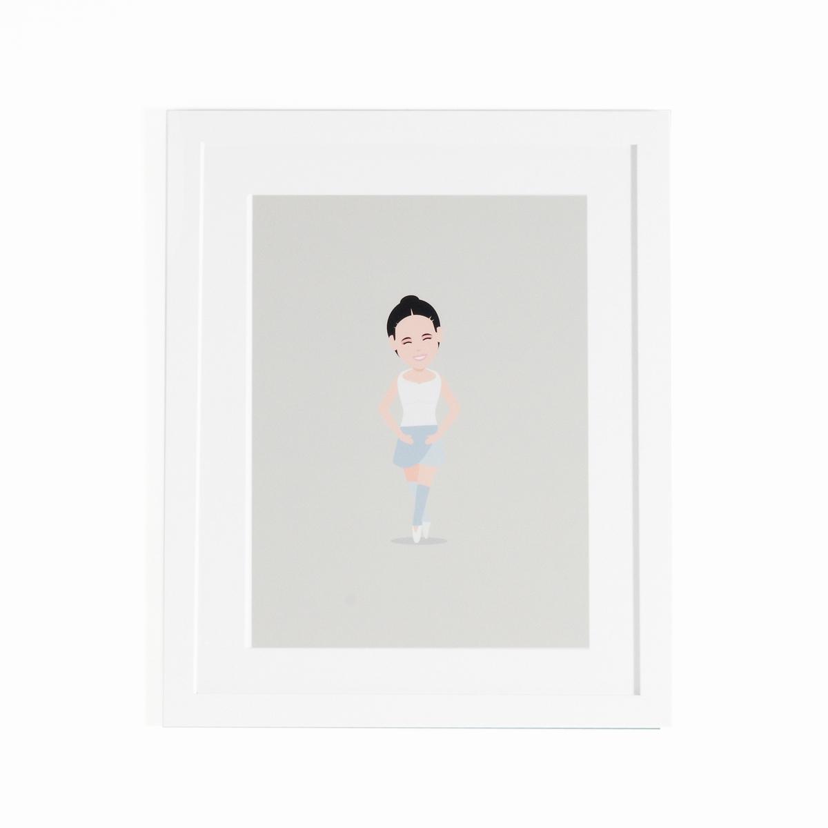 Плакат в рамке танцовщица, CoriamaiПлакат в рамке Coriamai . Дети, занимающиеся спортом, изображены на плакате ! 6 плакатов со стилизованным персонажем для декорирования комнаты в современном и веселом стиле (другие модели продаются на нашем сайте).Характеристики : - Плакат из офсетной бумаги 170г/м2 с навесом- Рамка из ДСП- Стекло из плексигласа- Крючок для крепления на стену (саморезы и дюбели не входят в комплект)Размеры : - Дл40 x Выс50 см<br><br>Цвет: разноцветный