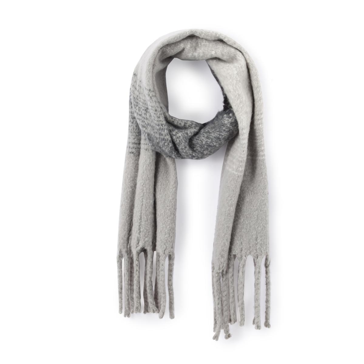 ШарфОписание:Мягкий, тёплый и ультрамодный : шарф снуд - неотъемлемая часть гардероба этой зимой. Состав и описаниеМатериал :  70% акрила 30% полиэстера Размер: 42x200см Уход :Следуйте указаниям по уходу на этикетке.<br><br>Цвет: серый<br>Размер: единый размер