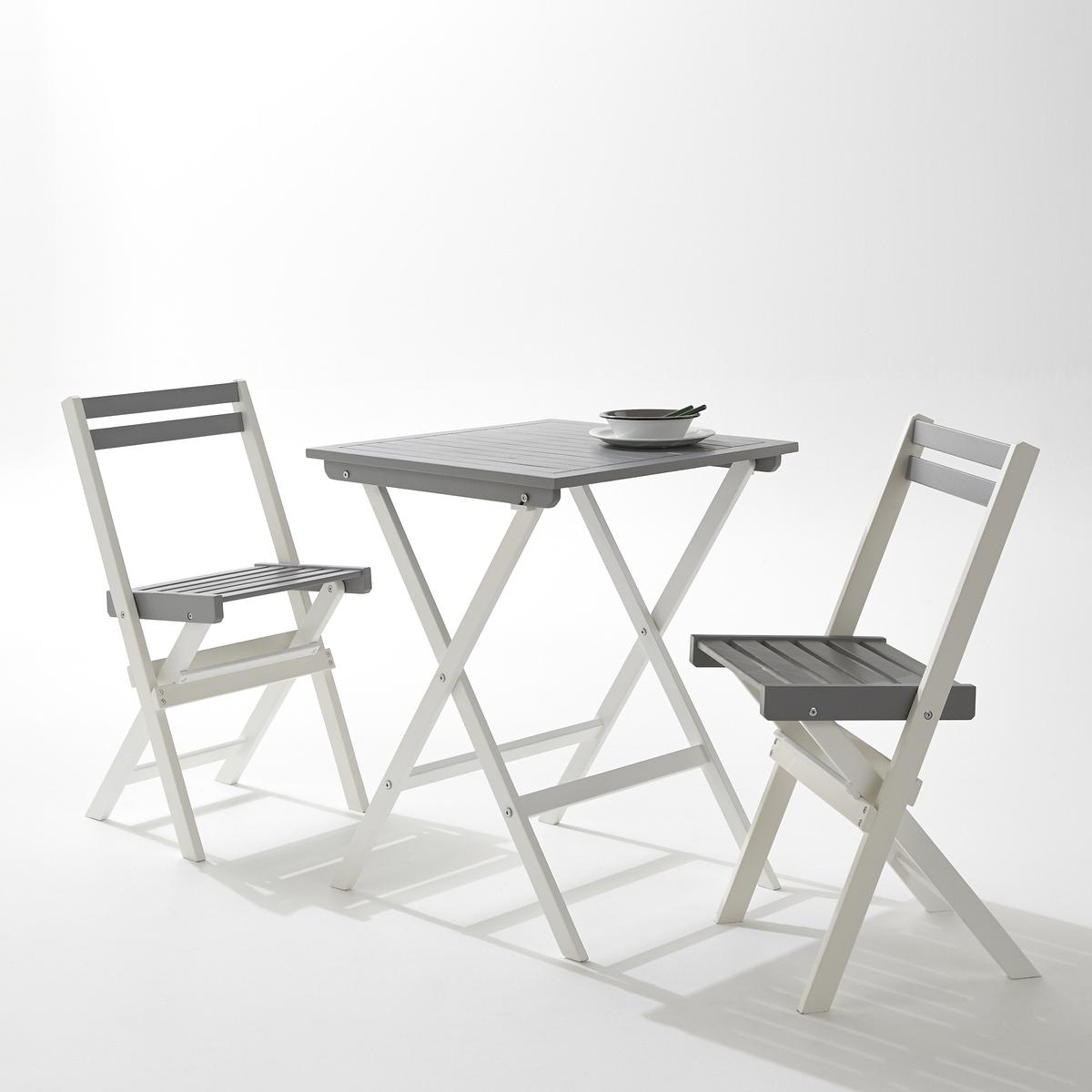 Комплект мебели для садаСтол и стулья складываются для удобства хранения.Характеристики комплекта:1 стол.2 складных стула.Акация контролируемого происхождения.Размеры комплекта:Стол: Д.60 см x Ш.60 см x В.75 см.Стул: Д.42 см x Ш.43,5 x В.80 см.Размеры сиденья:Д.37,4 см x Ш. 32 см x В.46 см.Размеры столешницы:Д.60 см x Ш.60 см x В.9 см.Размеры в упаковке:1 упаковка.Д.92 см.Ш.62,5 см.В.16 см.Вес 11,5 кг.Качество:Акация обладает хорошими механическими свойствами (прочность, устойчивость к насекомым и грибам, устойчивость к непогоде и чередованию сухой и влажной погоды).Доставка:Комплект для сада доставляется в разобранном виде. Доставка до картиры!Внимание! Убедитесь, что товар возможно доставить на дом, учитывая его габариты (проходит в двери, по лестницам, в лифты)<br><br>Цвет: белый/ серый