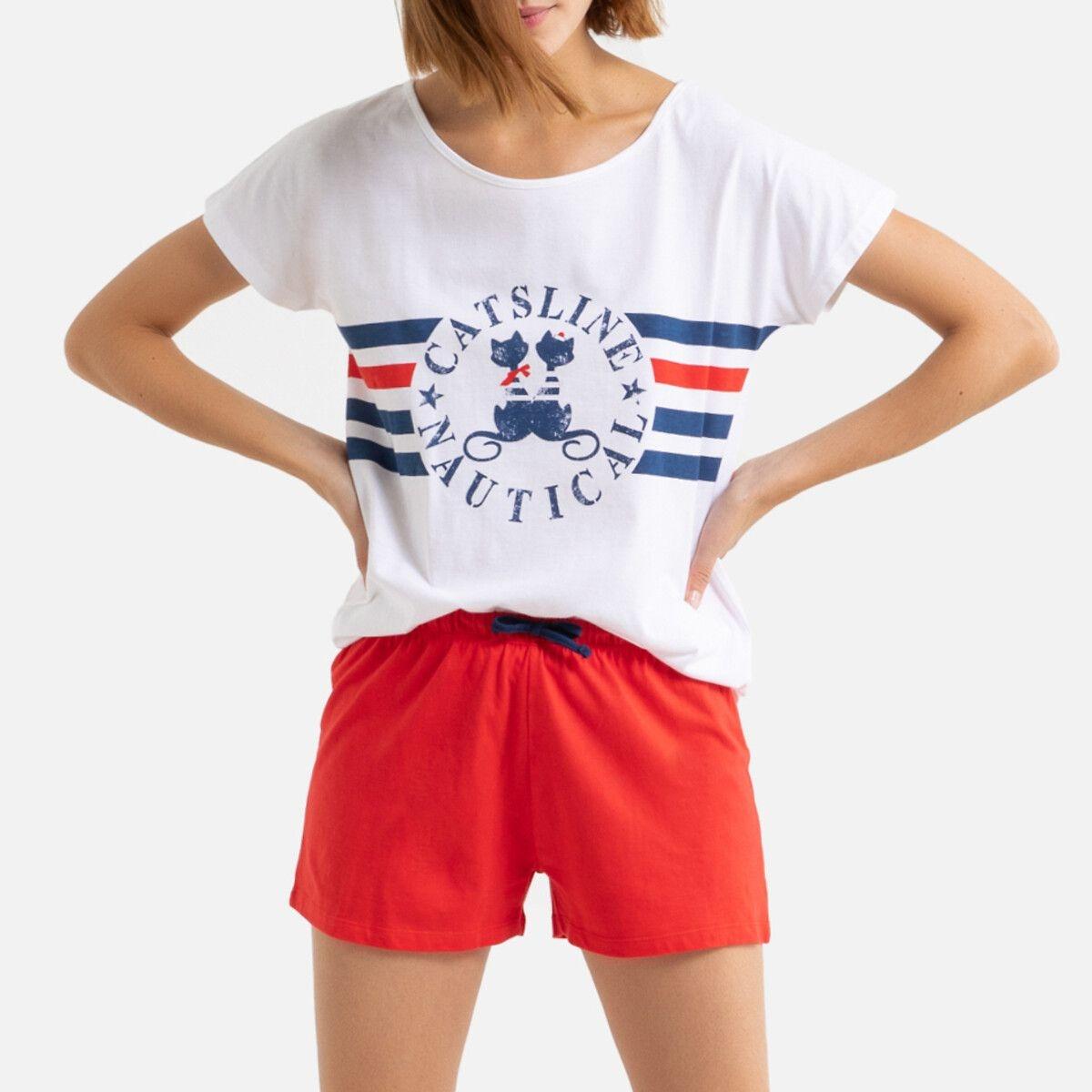 Pyjashort coton Catsline