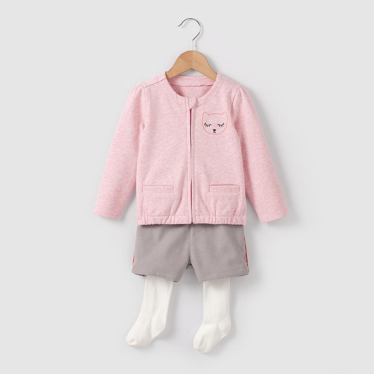 Комплект из 3 предметов: жилет, шорты и колготки  1 мес-3 лет от La Redoute Collections