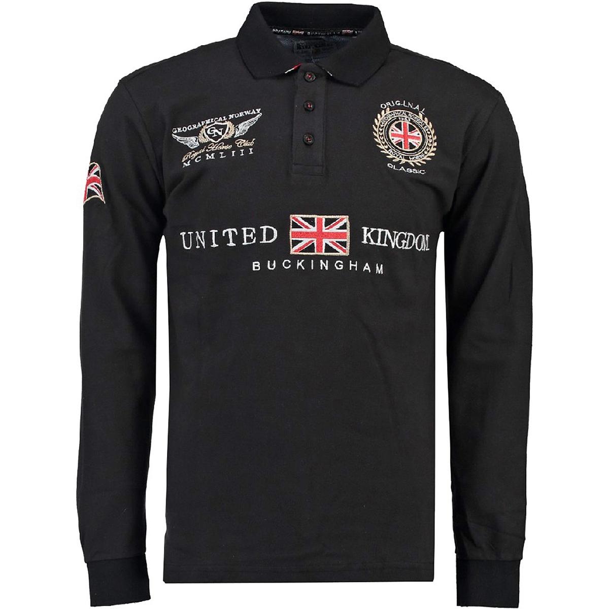 Poloshirt| gerader Schnitt | Bekleidung > Polo Shirts > Kurzarm | Schwarz | Baumwolle | GEOGRAPHICAL NORWAY
