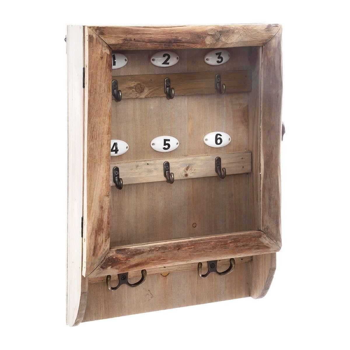 Boîte à clés rétro en bois