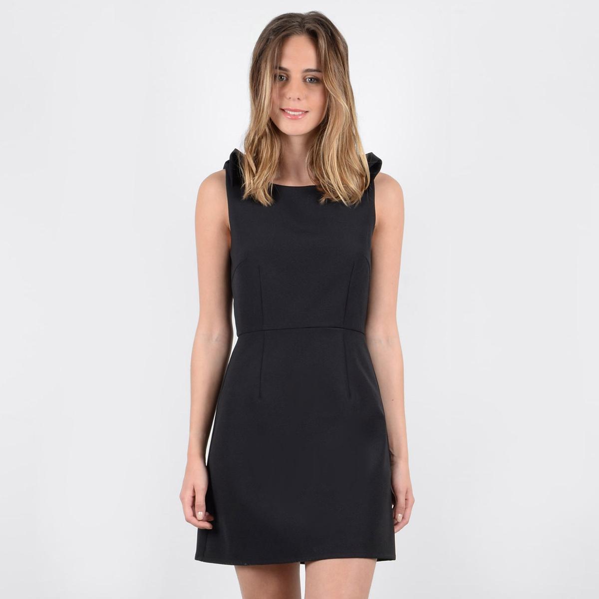 Платье La Redoute Короткое прямое без рукавов L черный