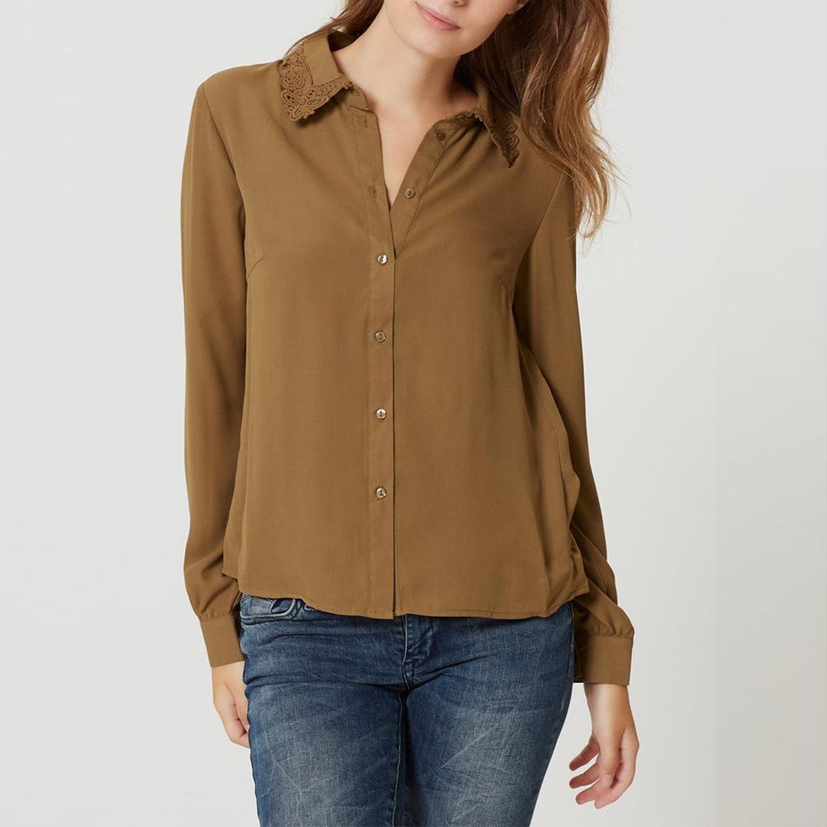 Рубашка VMLENNIE LACE SHIRTСостав и описание :Материал : 100% полиэстерМарка : VERO MODA.<br><br>Цвет: хаки светлый<br>Размер: XL