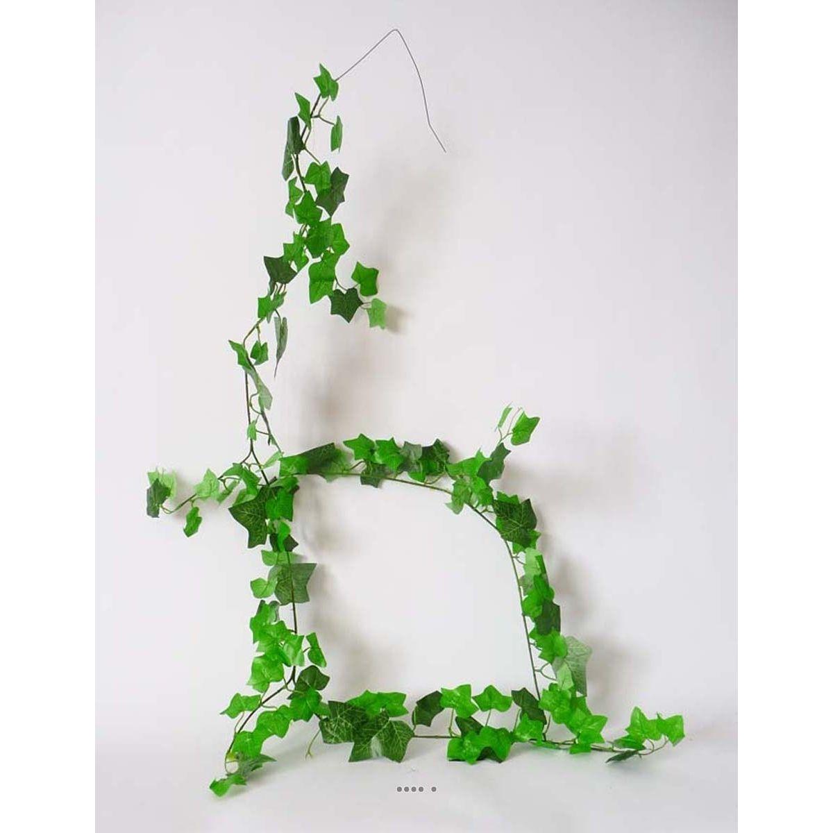 guirlande de lierre Vert 180 cm armee 57 branches 120 feuilles - choisissez votre coloris: Vert