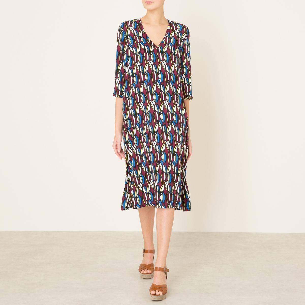 Платье SODAСостав и описание    Материал : 100% полиэстер   Длина : ок.115 см. для размера 36    Марка : TOUPY<br><br>Цвет: разноцветный