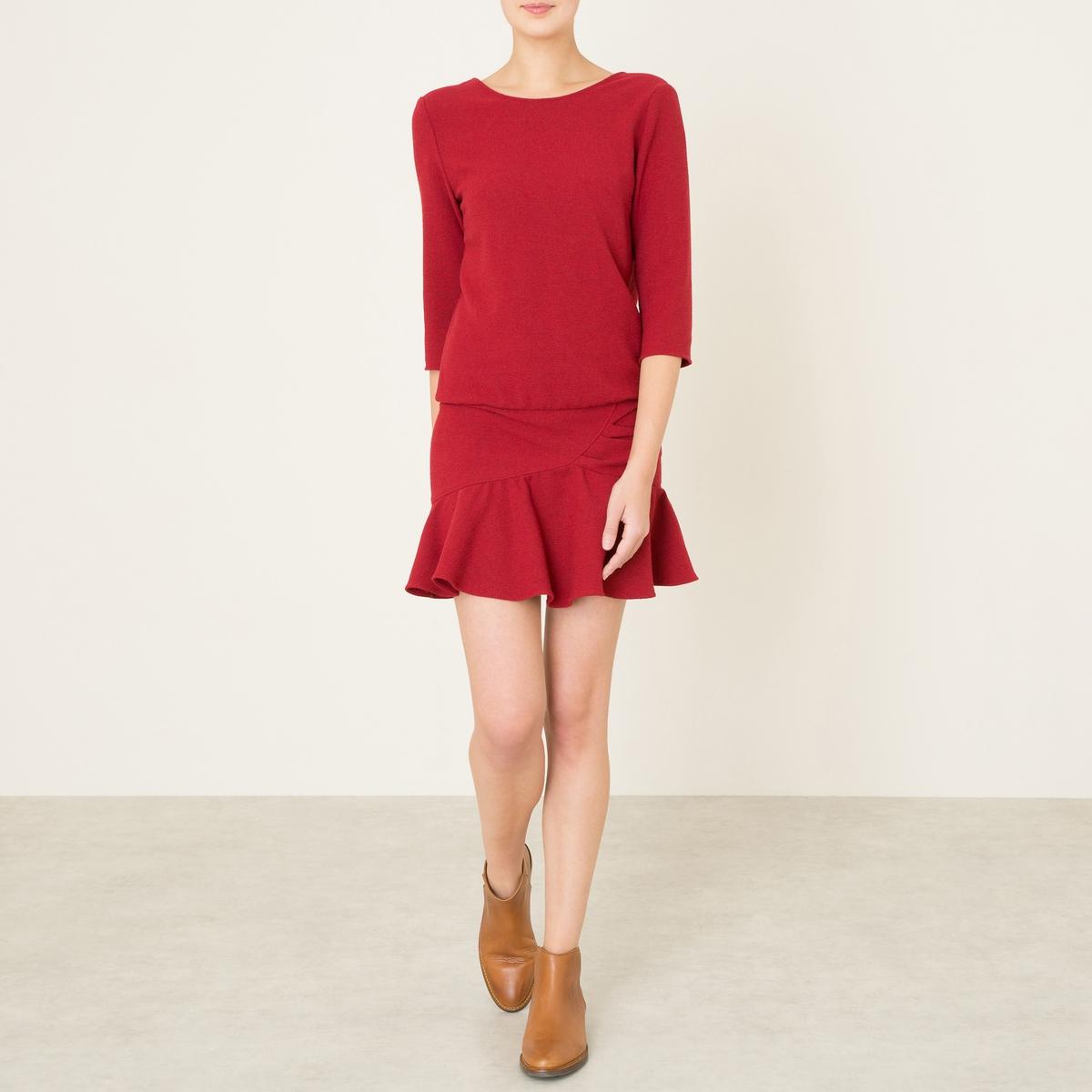 Платье ISLAСостав и описание    Материал : 49% полиэстера, 30% вискозы, 20% шерсти, 1% эластана   Длина : 62 см   Марка : BA&amp;SH<br><br>Цвет: бордовый