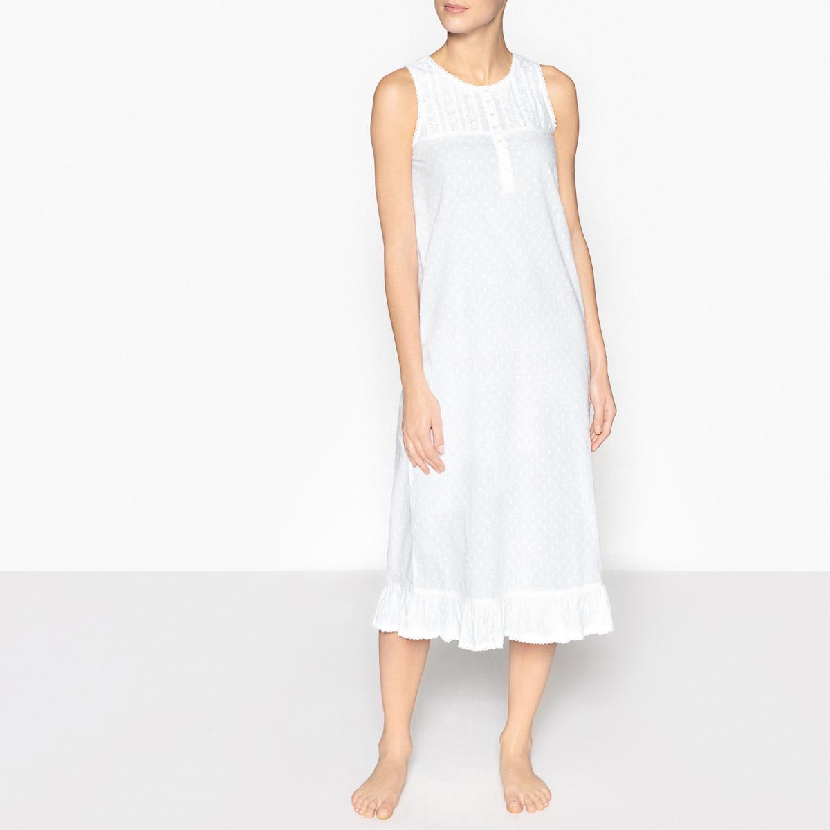 Сорочка ночная с вышивкой ночная сорочка длинная без рукавов