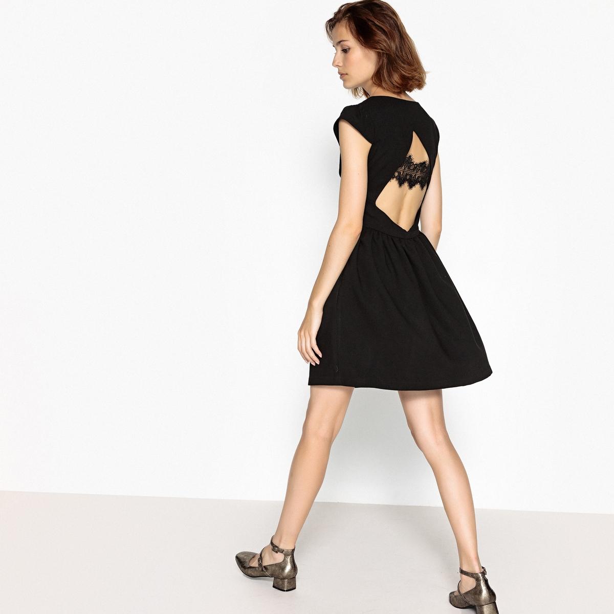 купить Платье короткое расклешенное с короткими рукавами по цене 5579.4 рублей