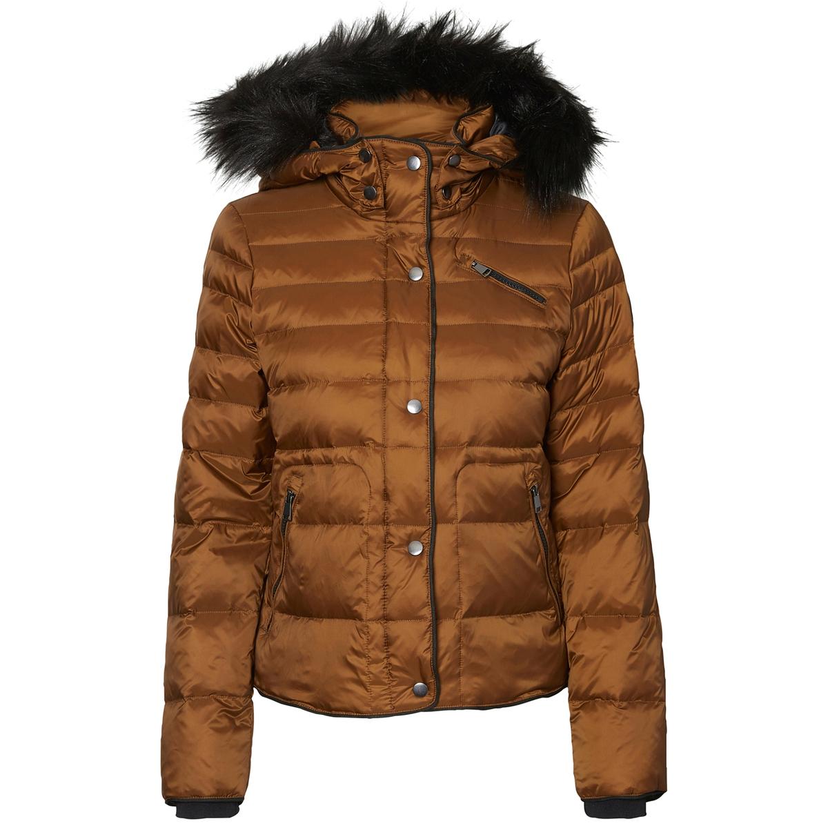 Куртка стеганая короткая с капюшоном парка короткая стеганая