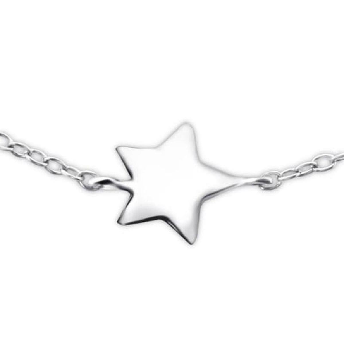 Bracelet Chaîne Réglable: 19 à 22 cm Etoile Argent 925