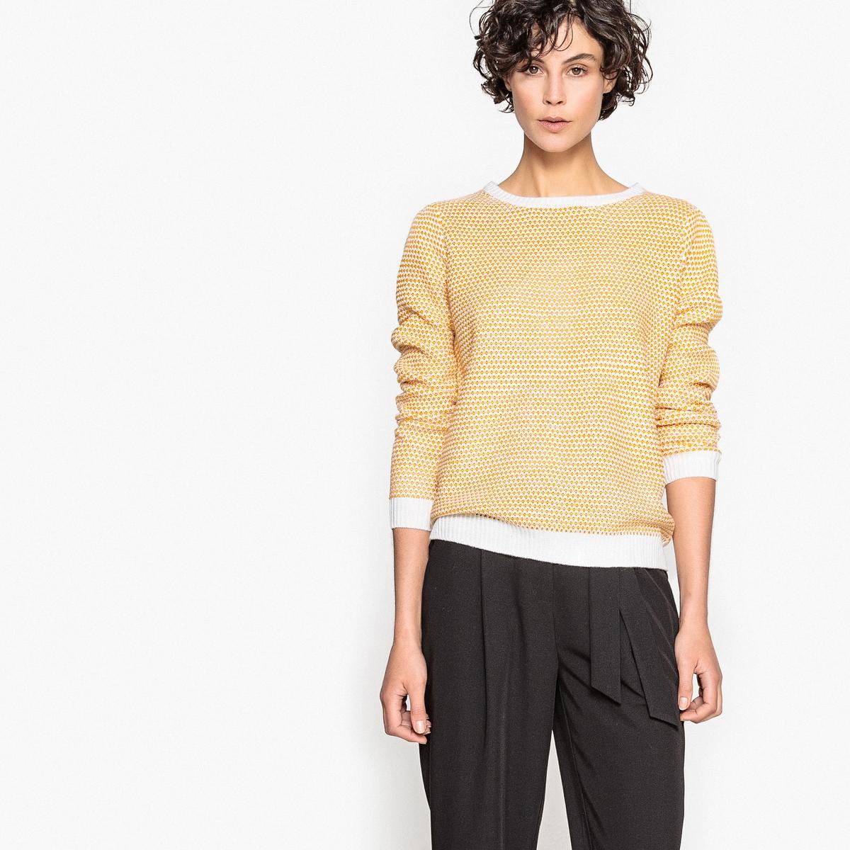 Пуловер из трикотажа с бантиком сзади