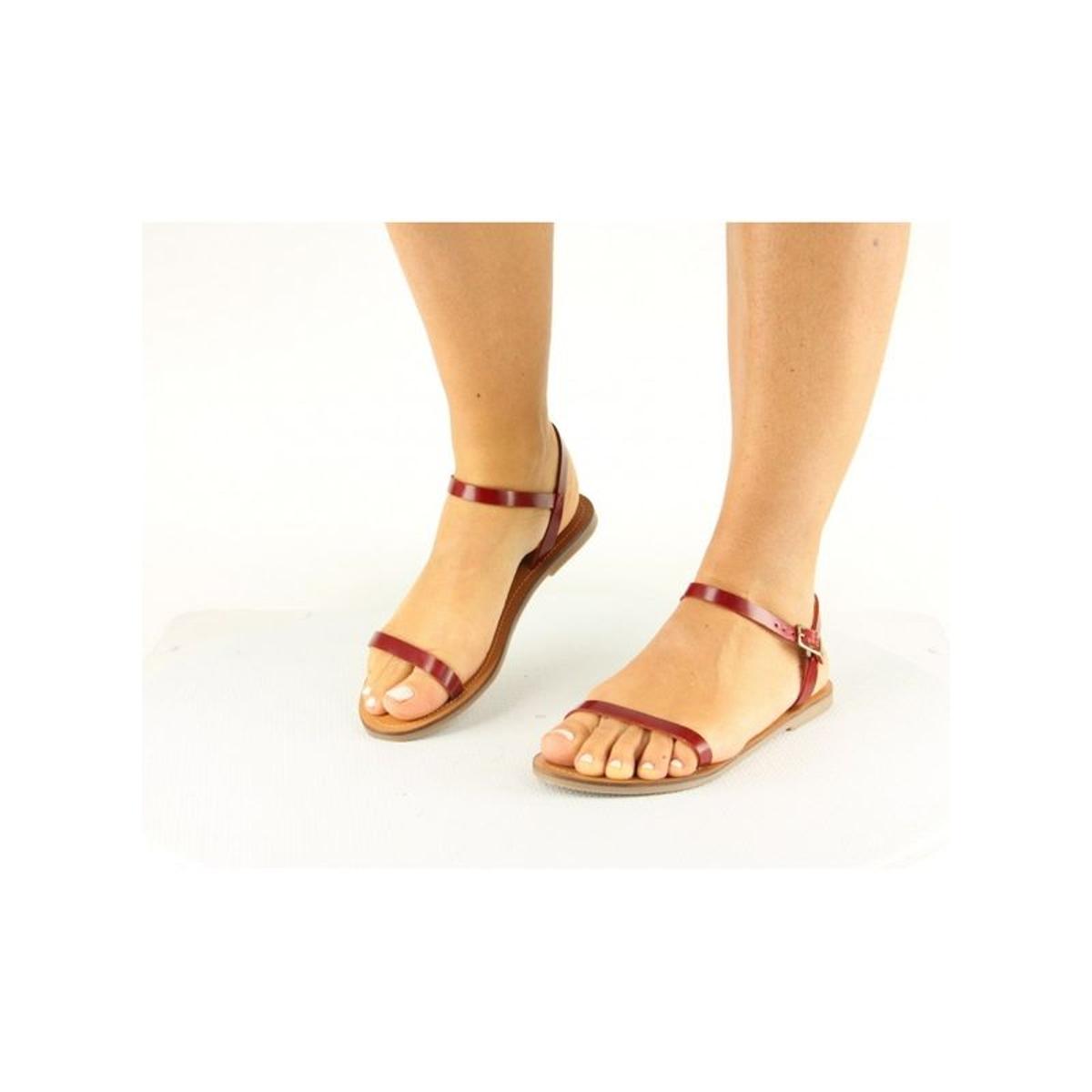 Sandales cuir femme lanières fine