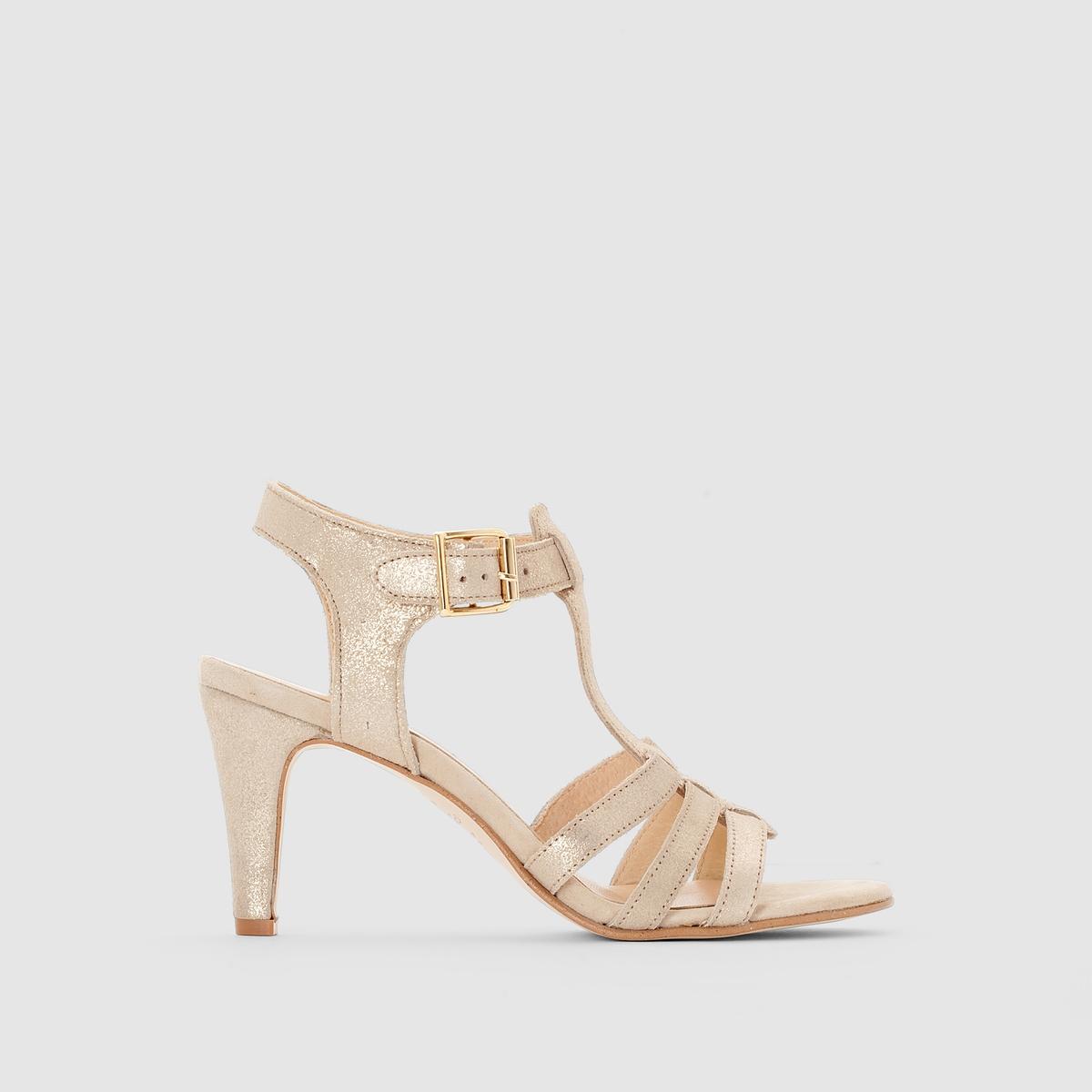 Туфли с ремешком вокруг щиколоткиПреимущества  : очень элегантные туфли JONAK с ремешком вокруг щиколотки, потрясающий оригинальный стиль нео-ретро.<br><br>Цвет: Платиновый<br>Размер: 36