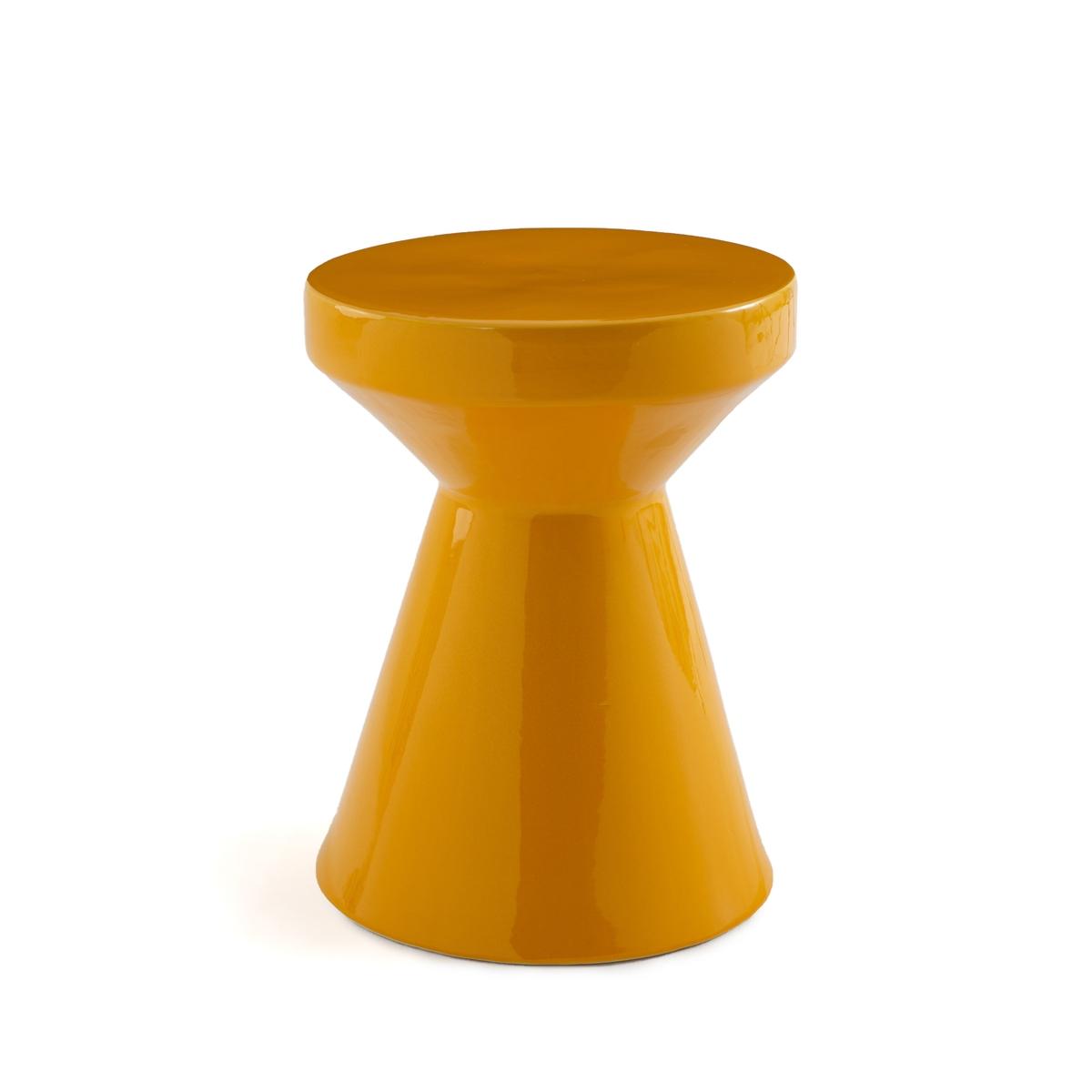 Стол LaRedoute Диванный из керамики Matmat единый размер желтый