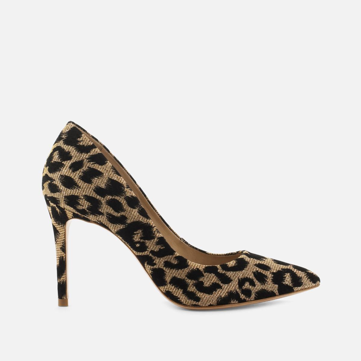 Туфли La Redoute На каблуке-шпильке AzoaGlitleo 36 каштановый туфли la redoute на среднем каблуке с питоновым принтом 36 каштановый