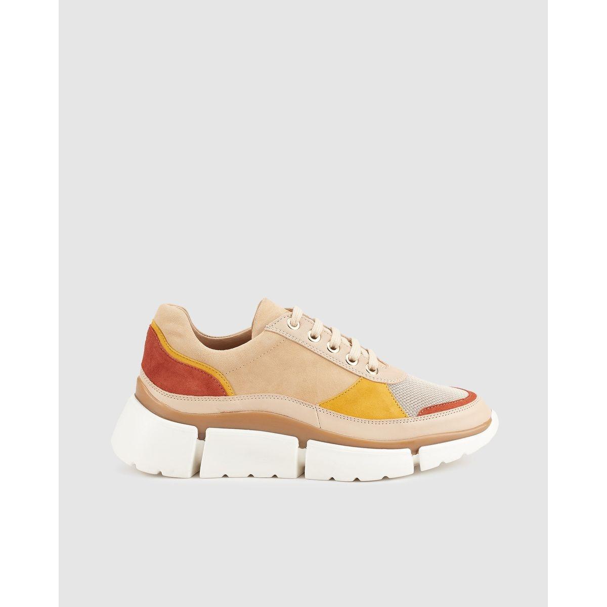 Chaussures sport   à talon compensé