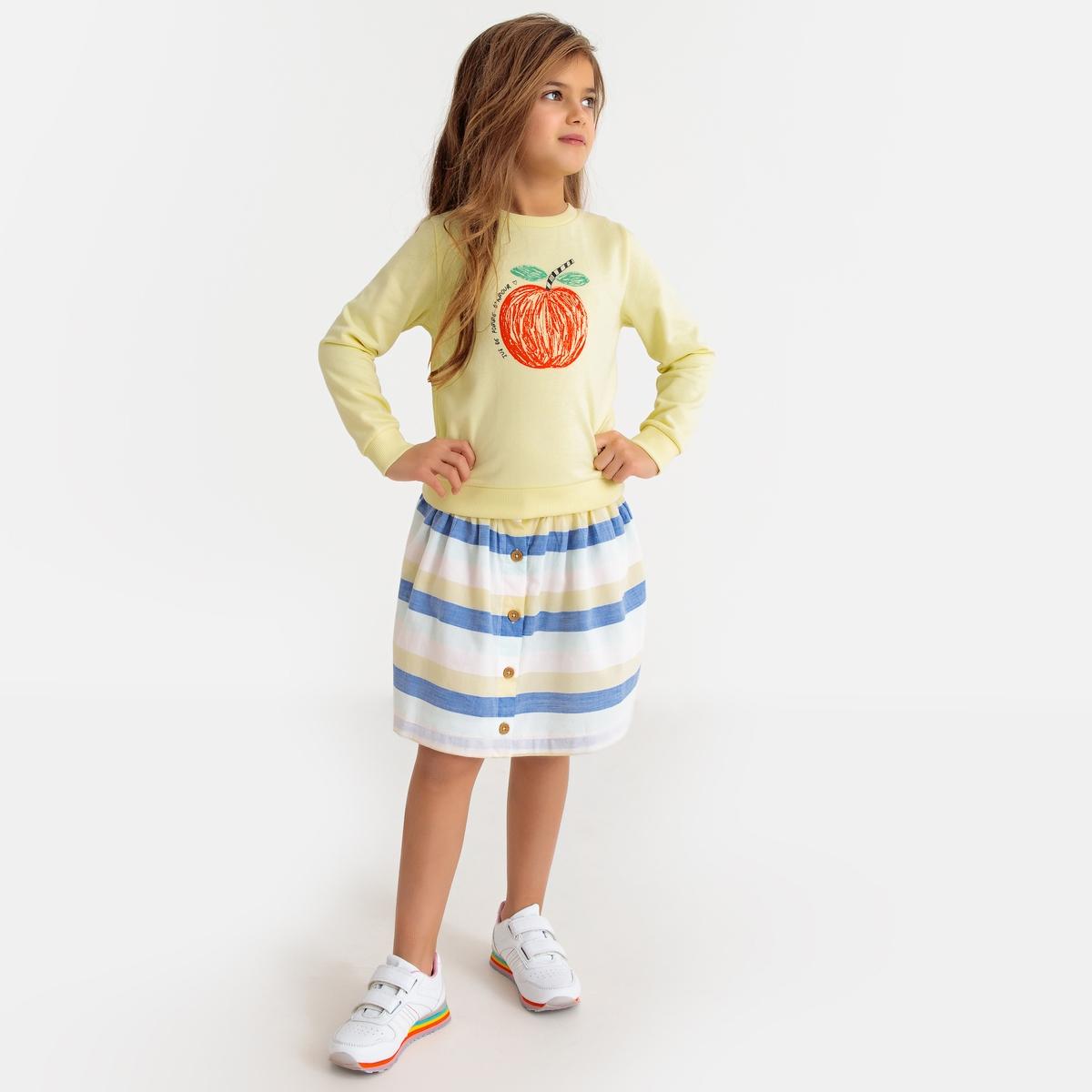Юбка La Redoute Расклешенная в полоску 10 лет - 138 см другие юбка la redoute расклешенная с принтом 8 лет 126 см другие